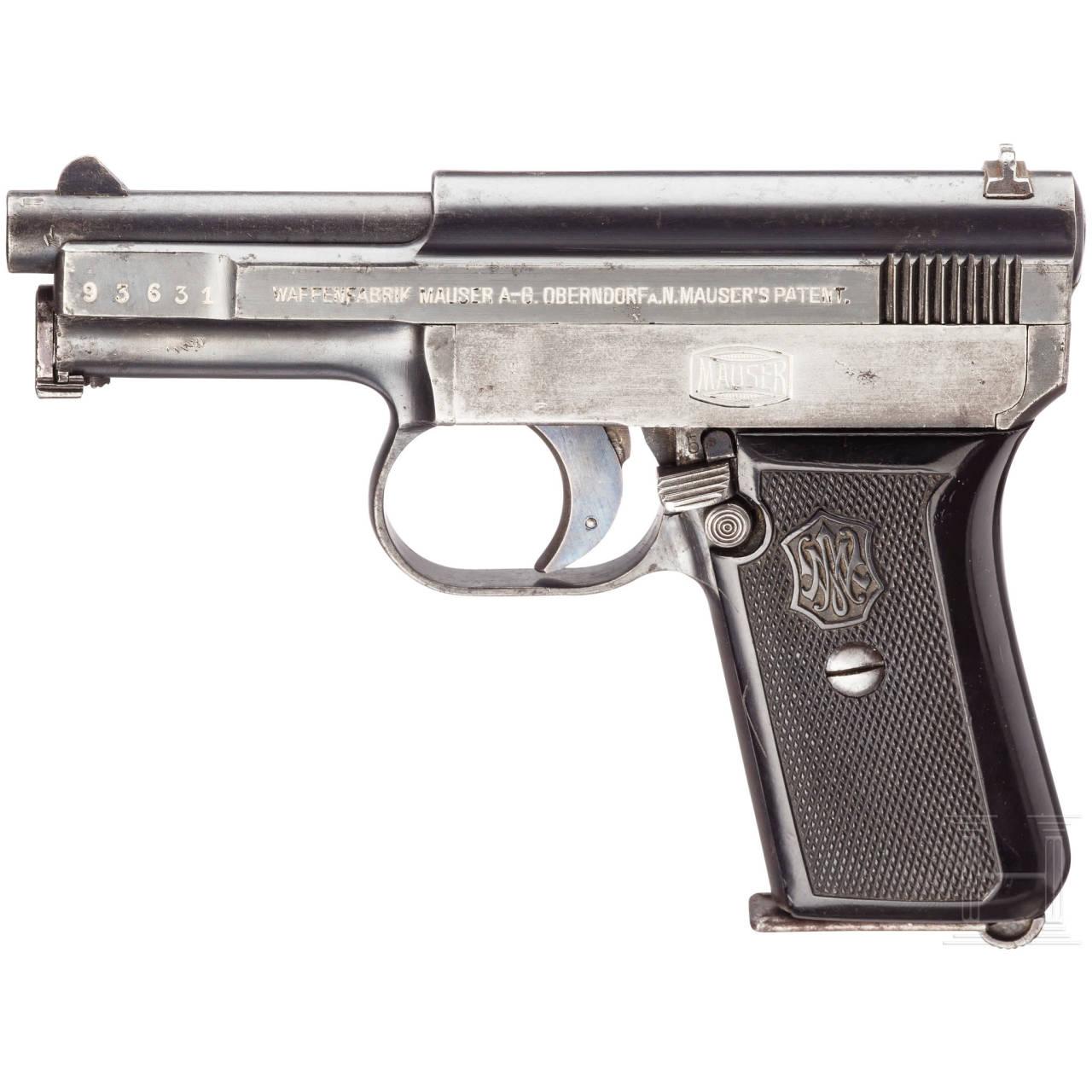 Mauser New Mod. 1910/14, mit Tasche