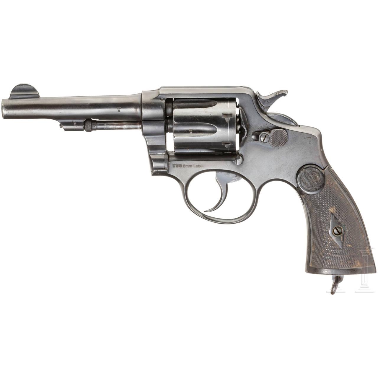 Revolver Tipo Smith, mit Etui, Hilfswaffe WK I