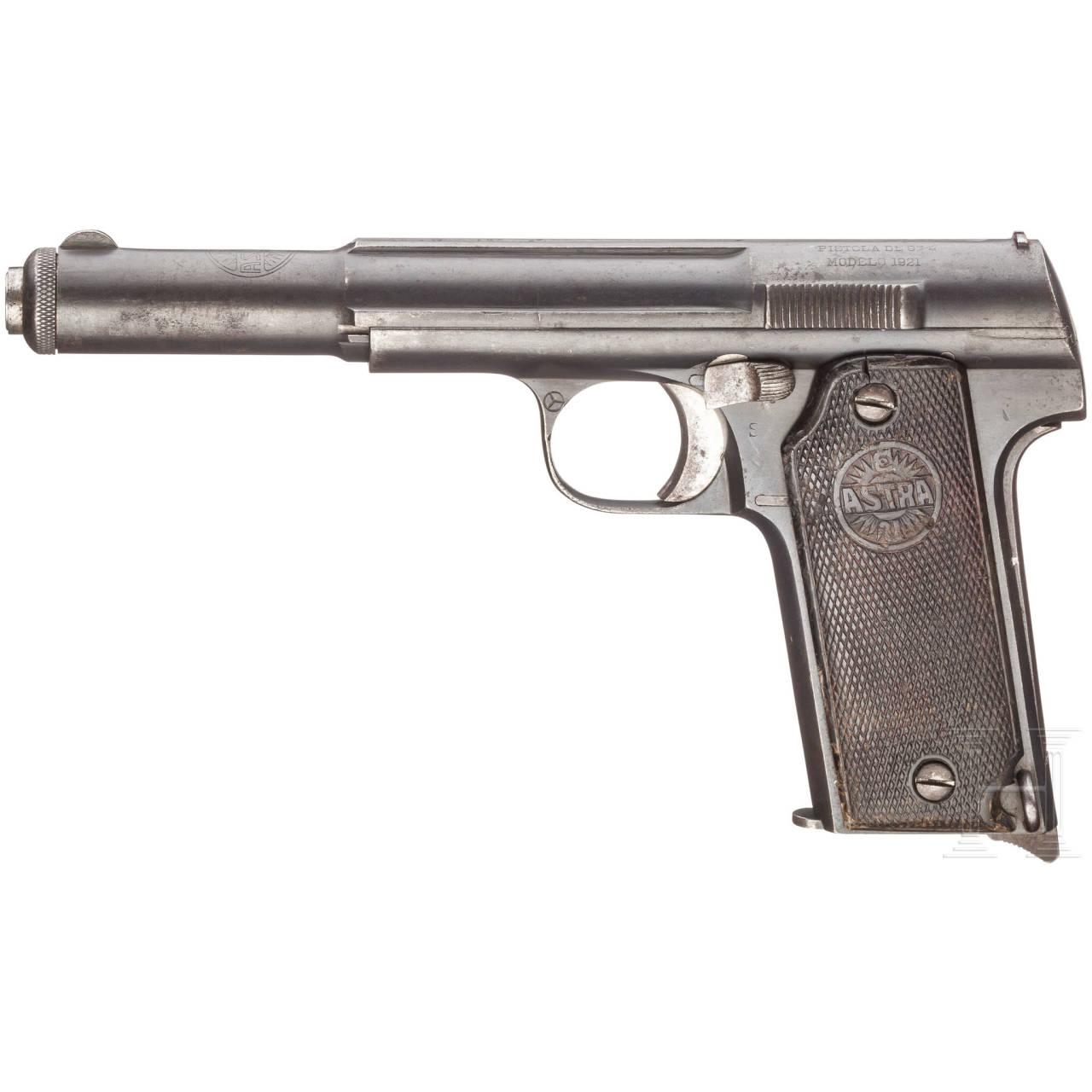 Astra Mod. 400 (1921), mit Tasche
