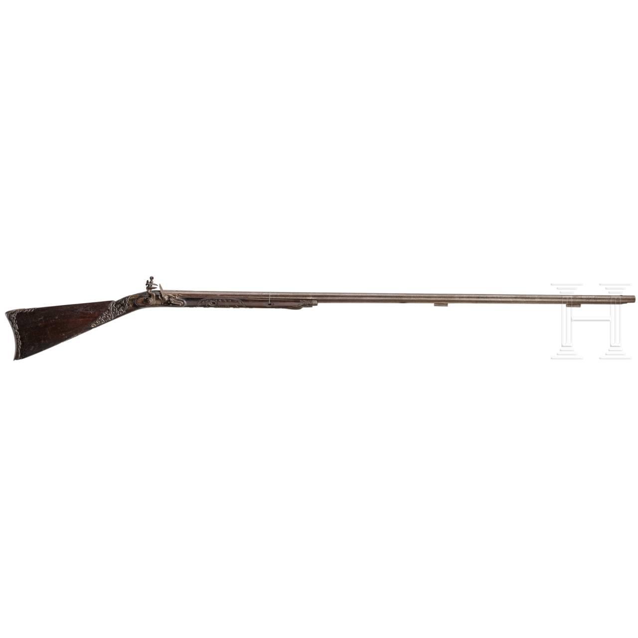 A Chinese flintlockgun, circa 1800
