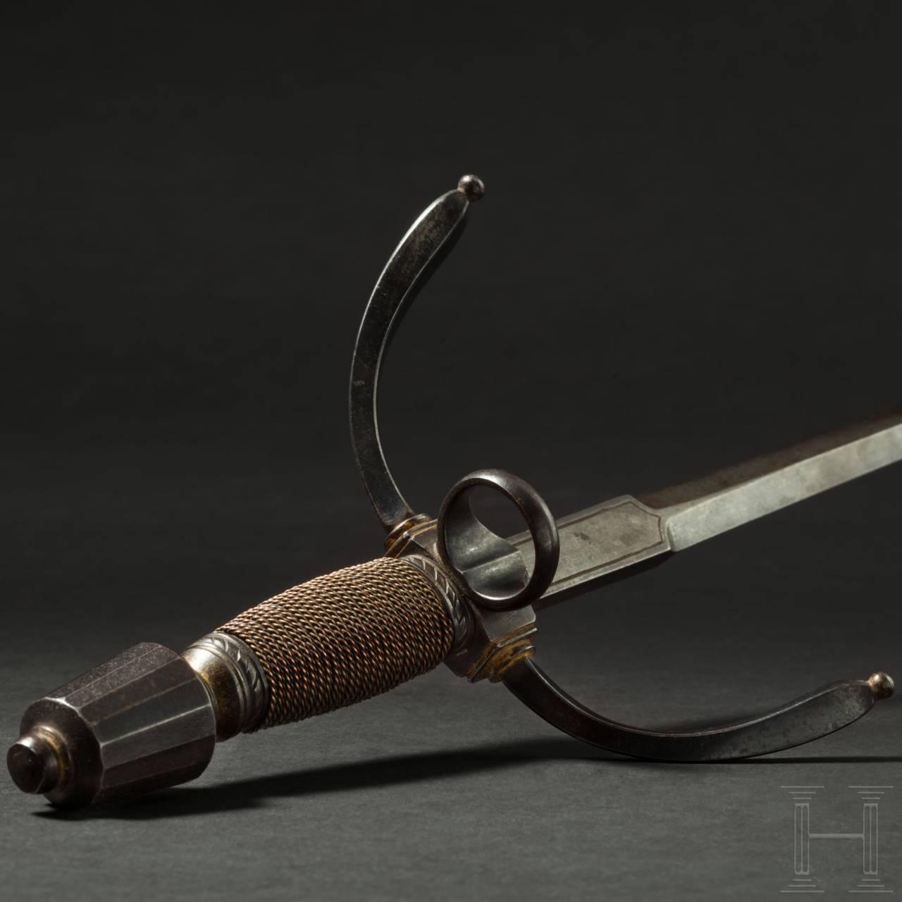A German, probably Saxon, long left-handed dagger, circa 1600/1610