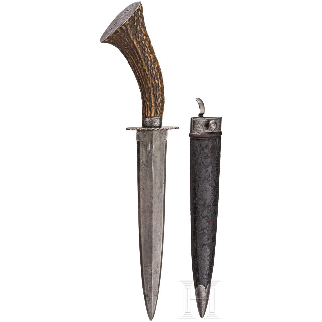 A luxury hunting dagger, probably Vienna, circa 1840