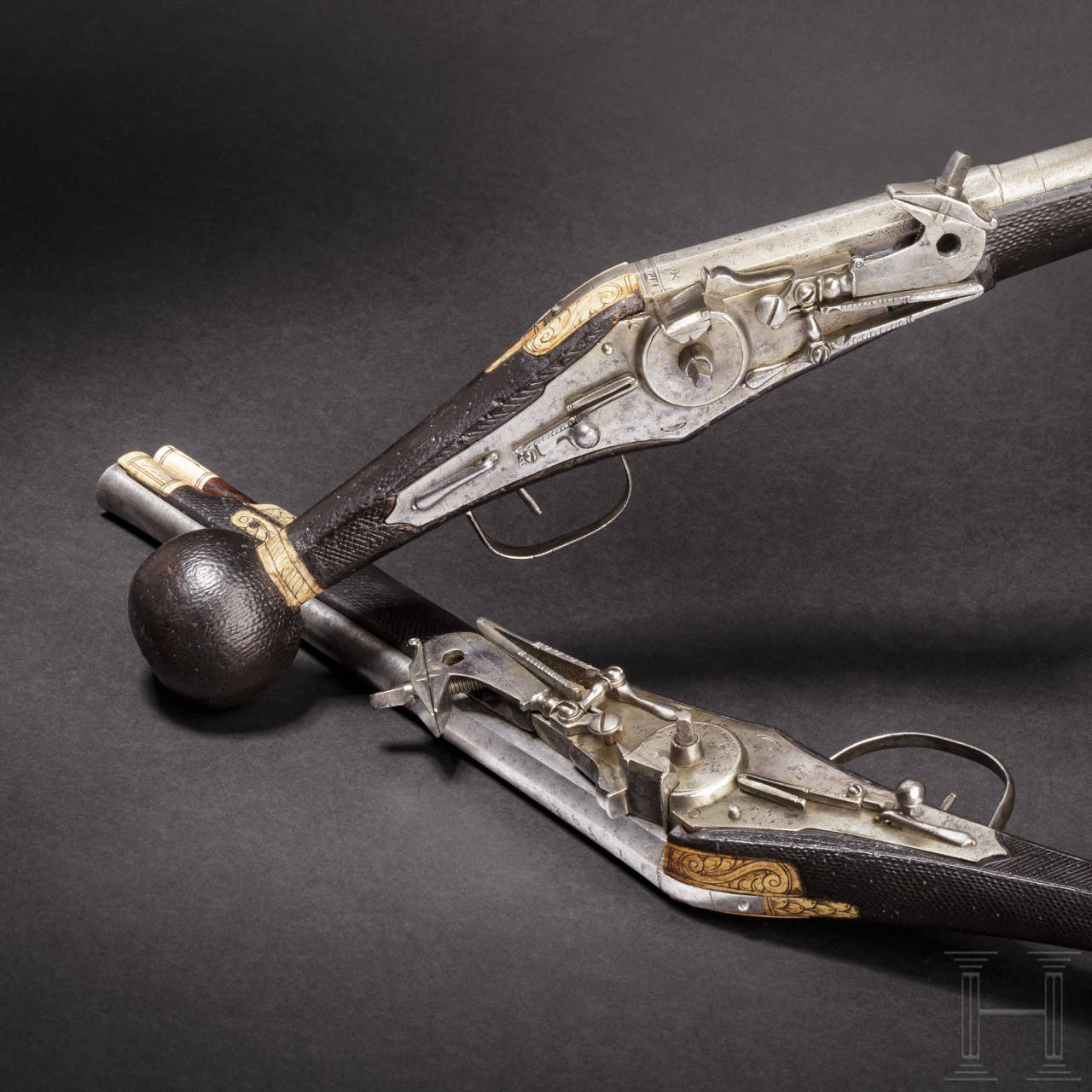 A pair of wheellock puffers for enlisted men of the Saxon Electorate Palace Life Guard (2nd model), both dated 1594