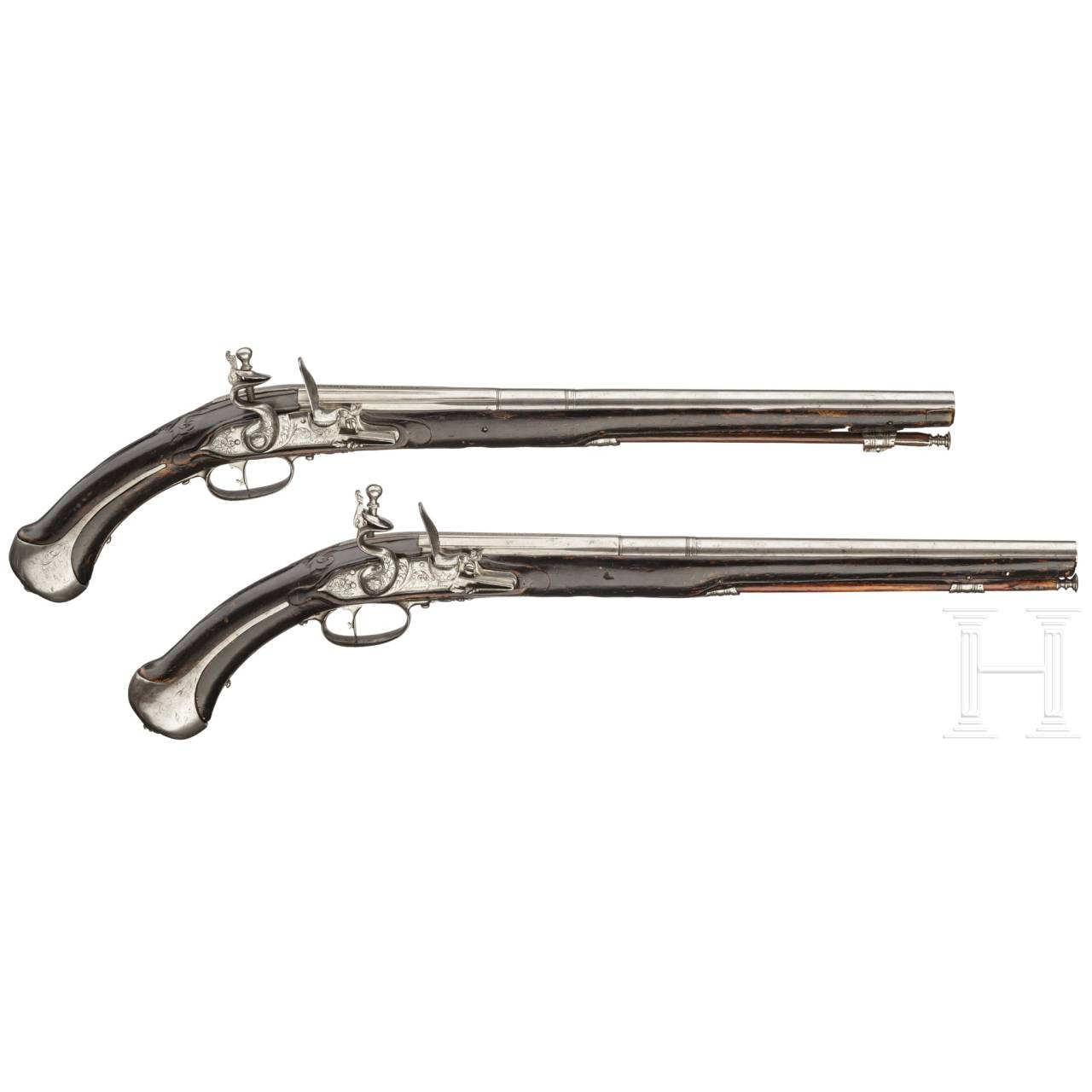 A pair of flintlock pistols, Giovanni Fondrino of Padua, circa 1680