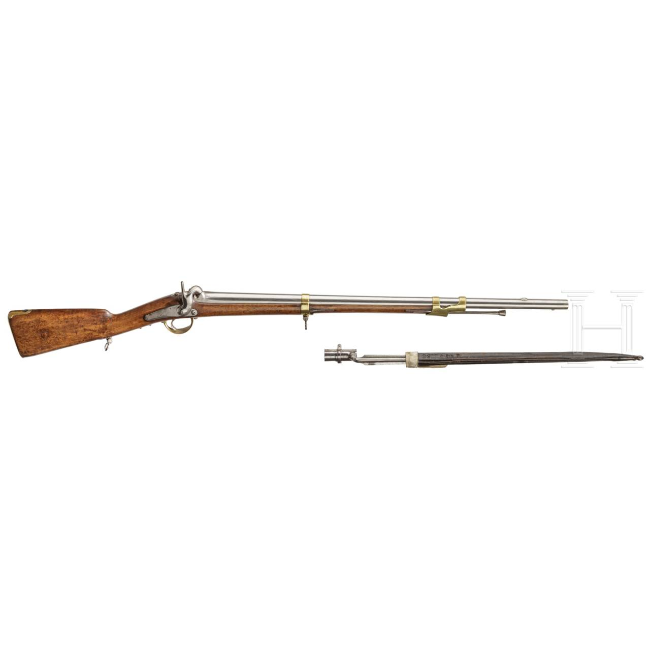 A French gendarm's musketoon M 1842, with bayonet