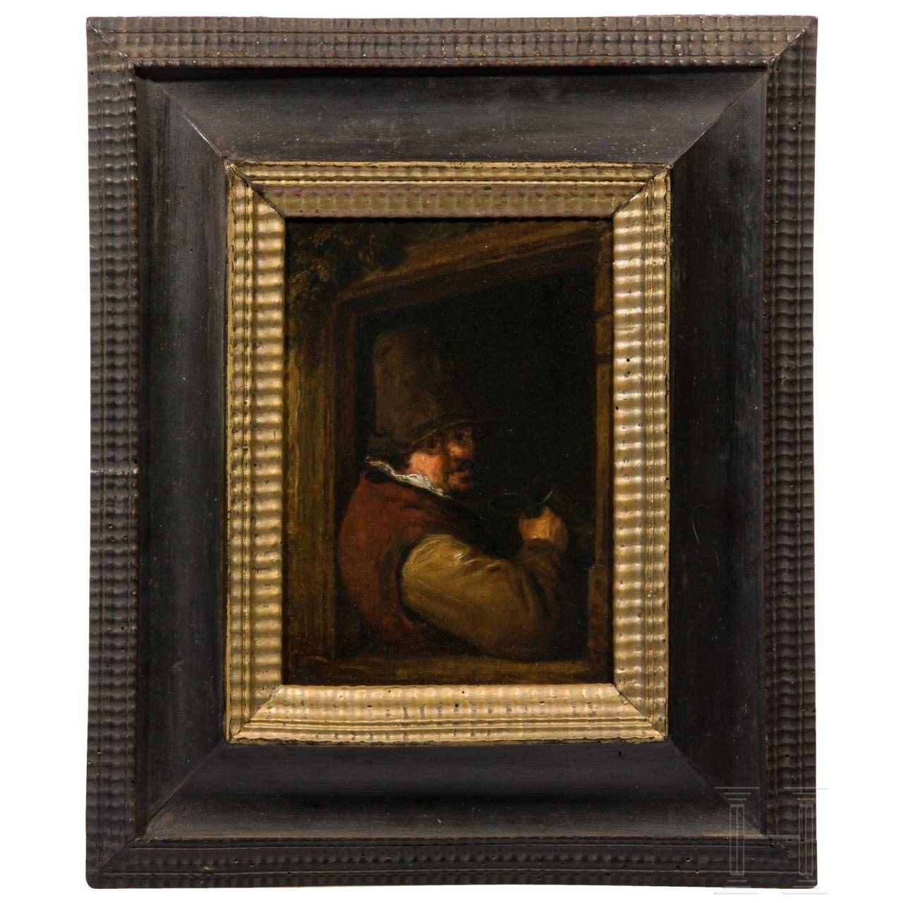 A small Dutch Old Master painting, 17th century