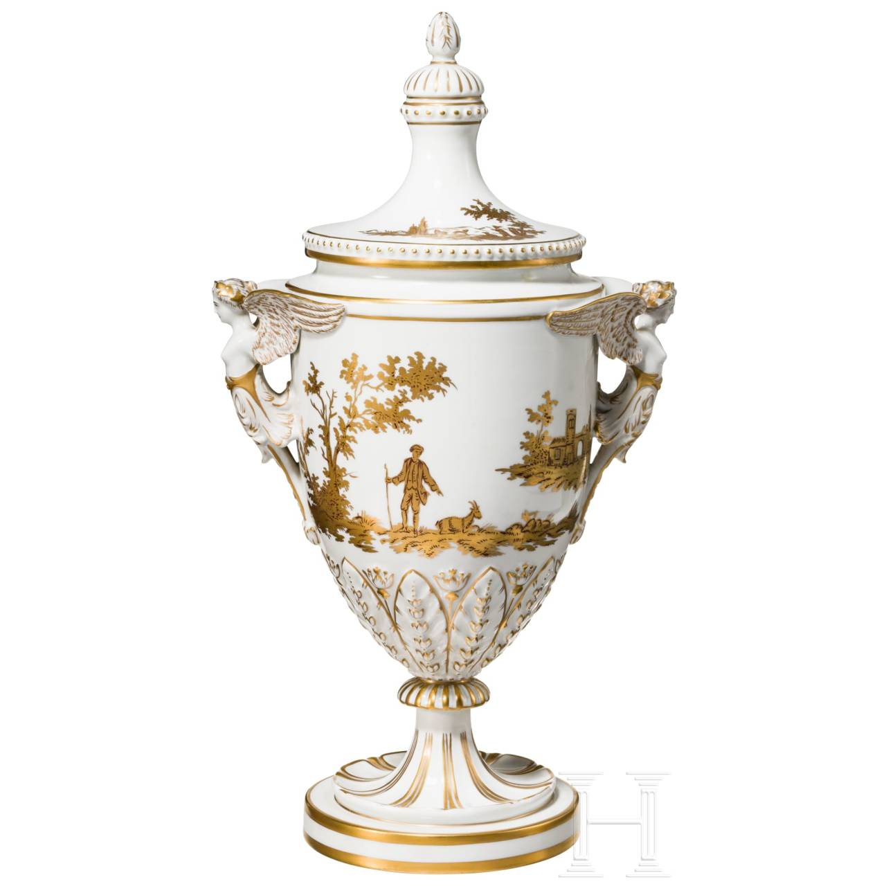 A presentation vase from the porcelain manufacture Dresden, 20th century