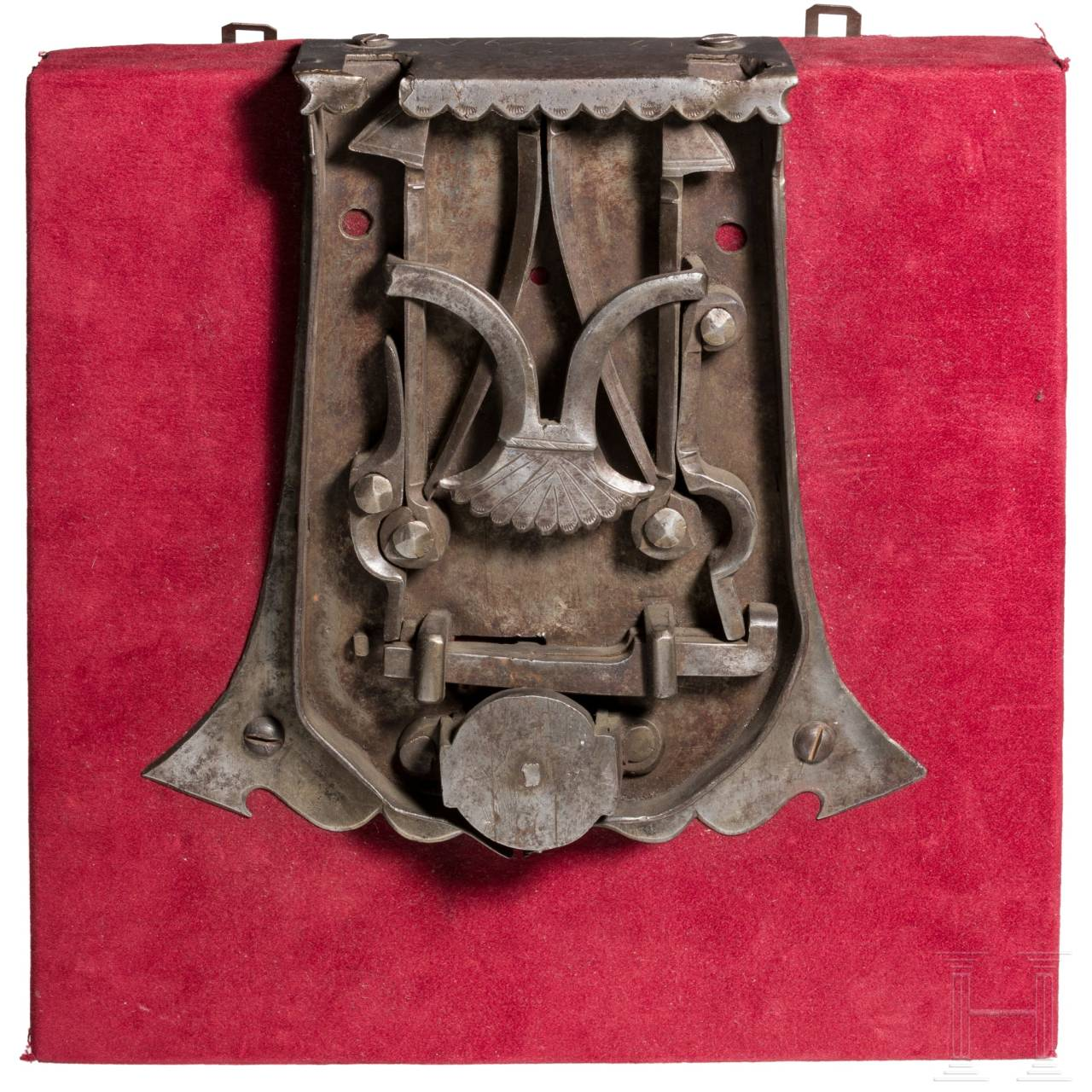A southern German Gothic chest lock, dated 1497