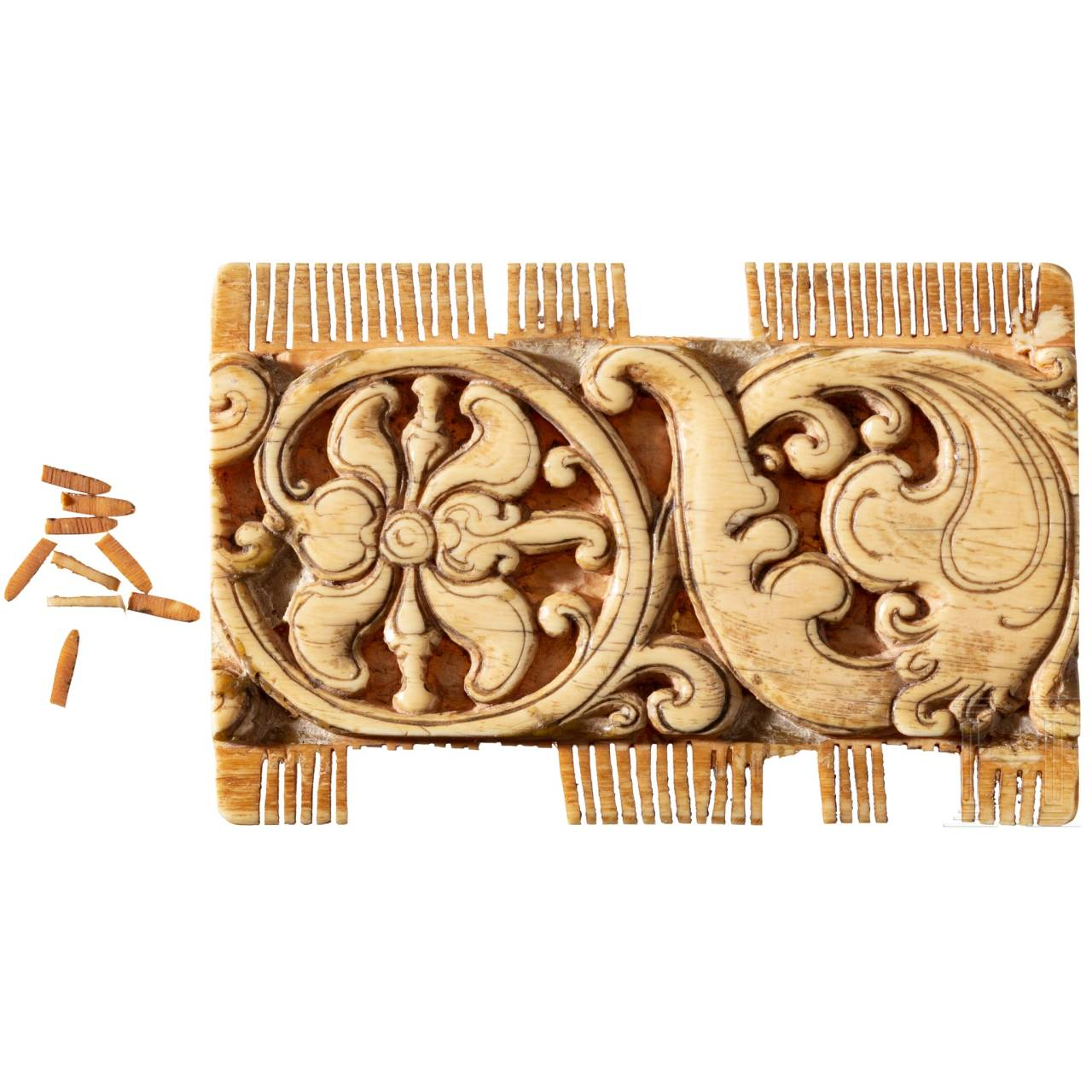 A German ivory comb, 15th century