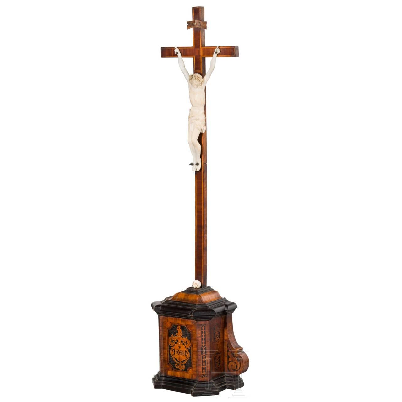A South German Baroque crucifix, 17th century