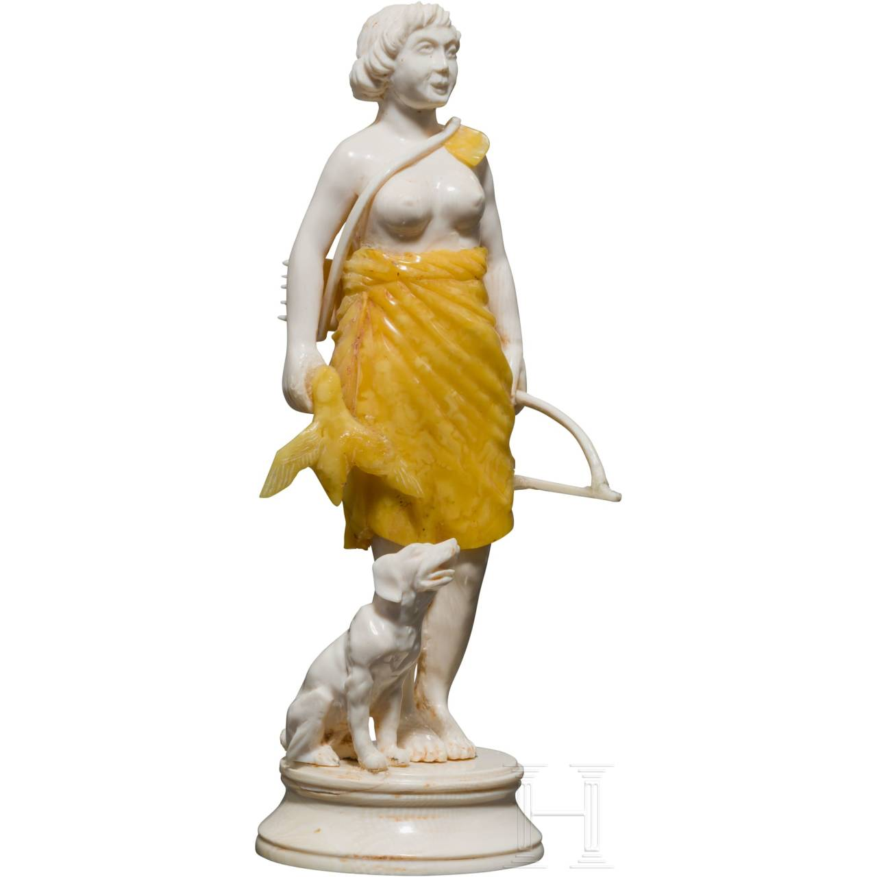 A German ivory figure of Diana, 20th century
