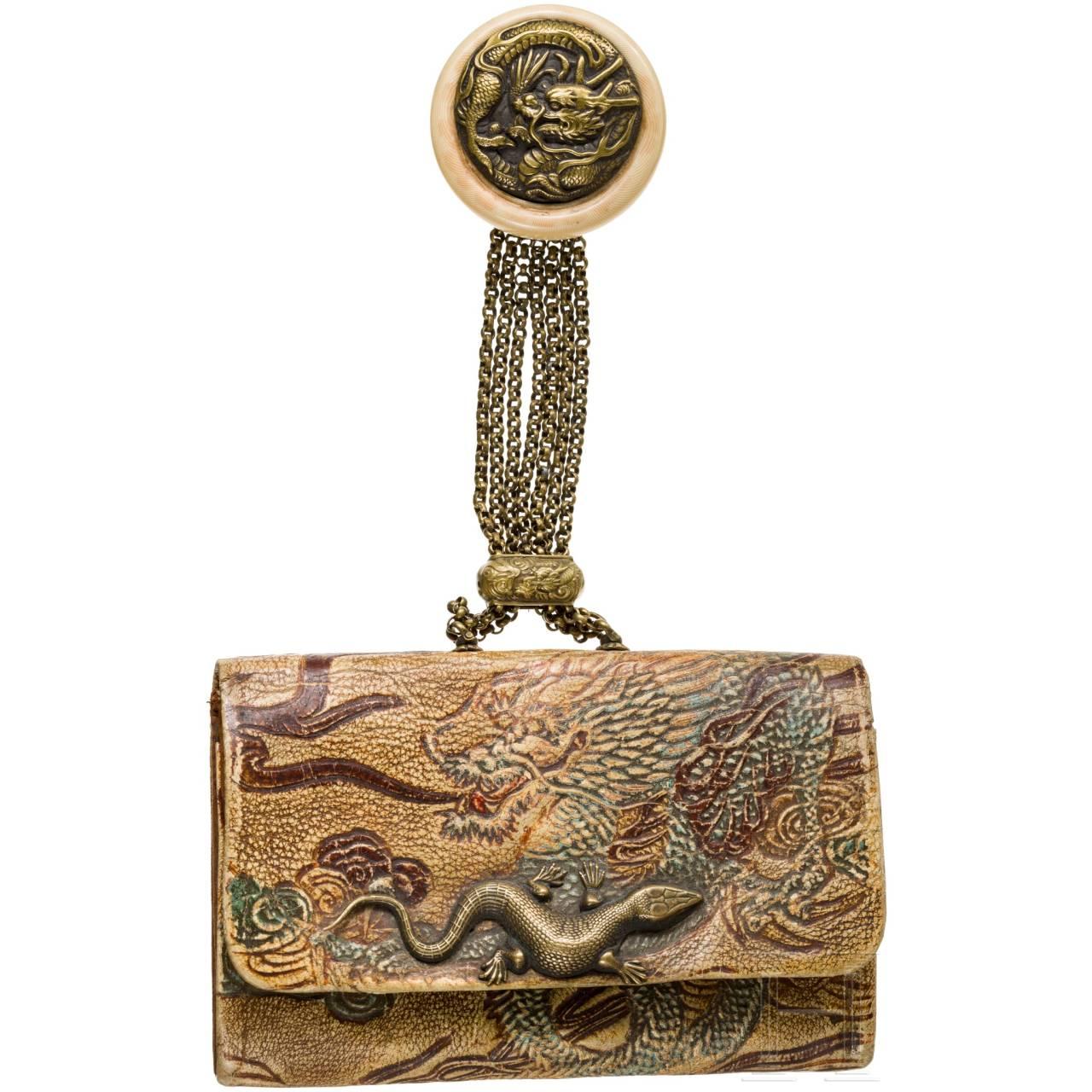 A Japanese tobacco box with Kagamibuta, Meiji-period, 19th century