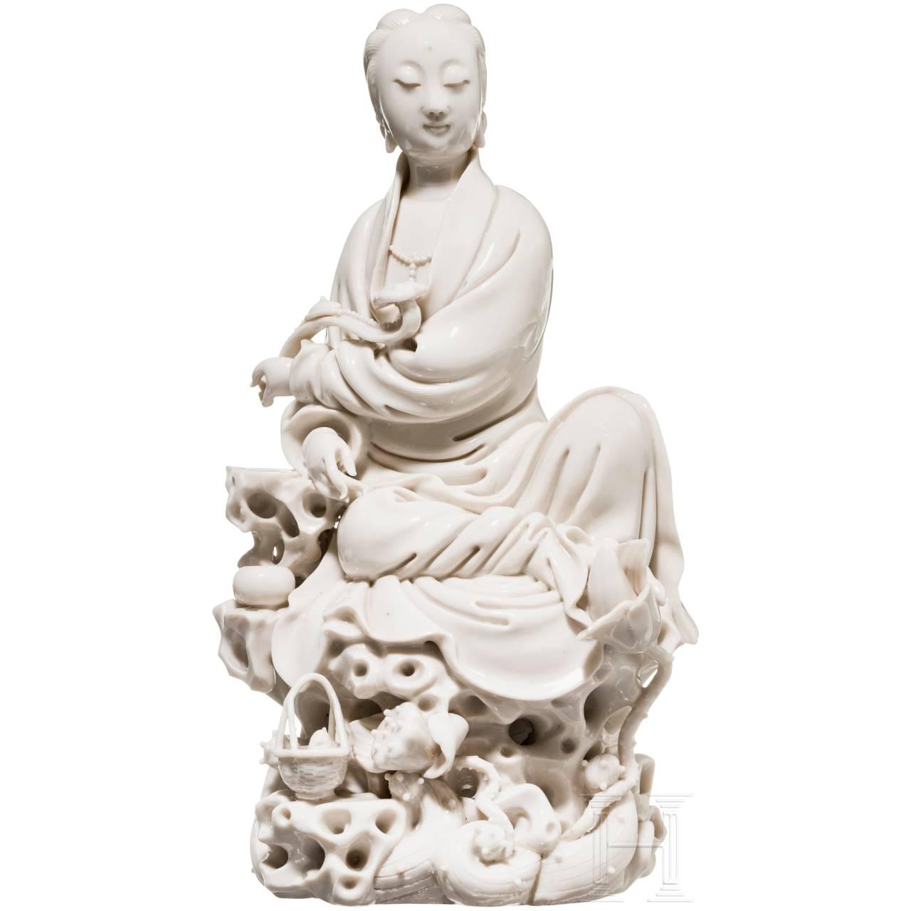 A Blanc de Chine Guanyin, Ho chao-chun in Te Hua, circa 1700