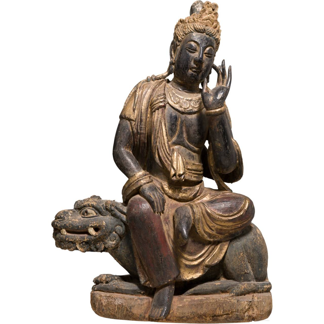 A Chinese wooden Buddha, 18th/19th century