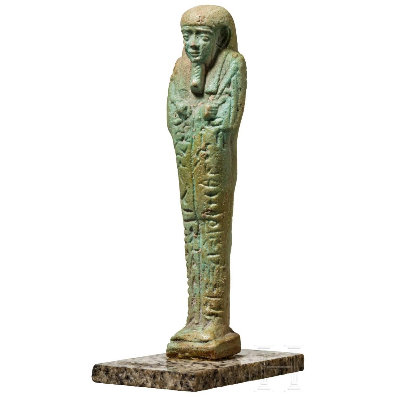 An Egyptian Ushabti of Hor-Khonsou, circa 500 B.C.