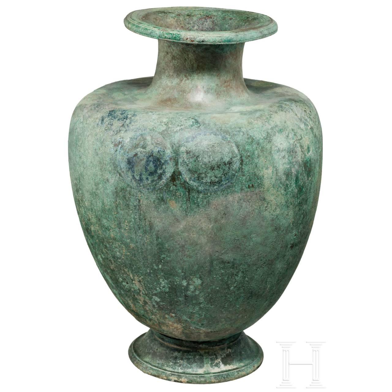 Bronzene Hydria, Griechenland, Klassik, 5. Jhdt. v. Chr.