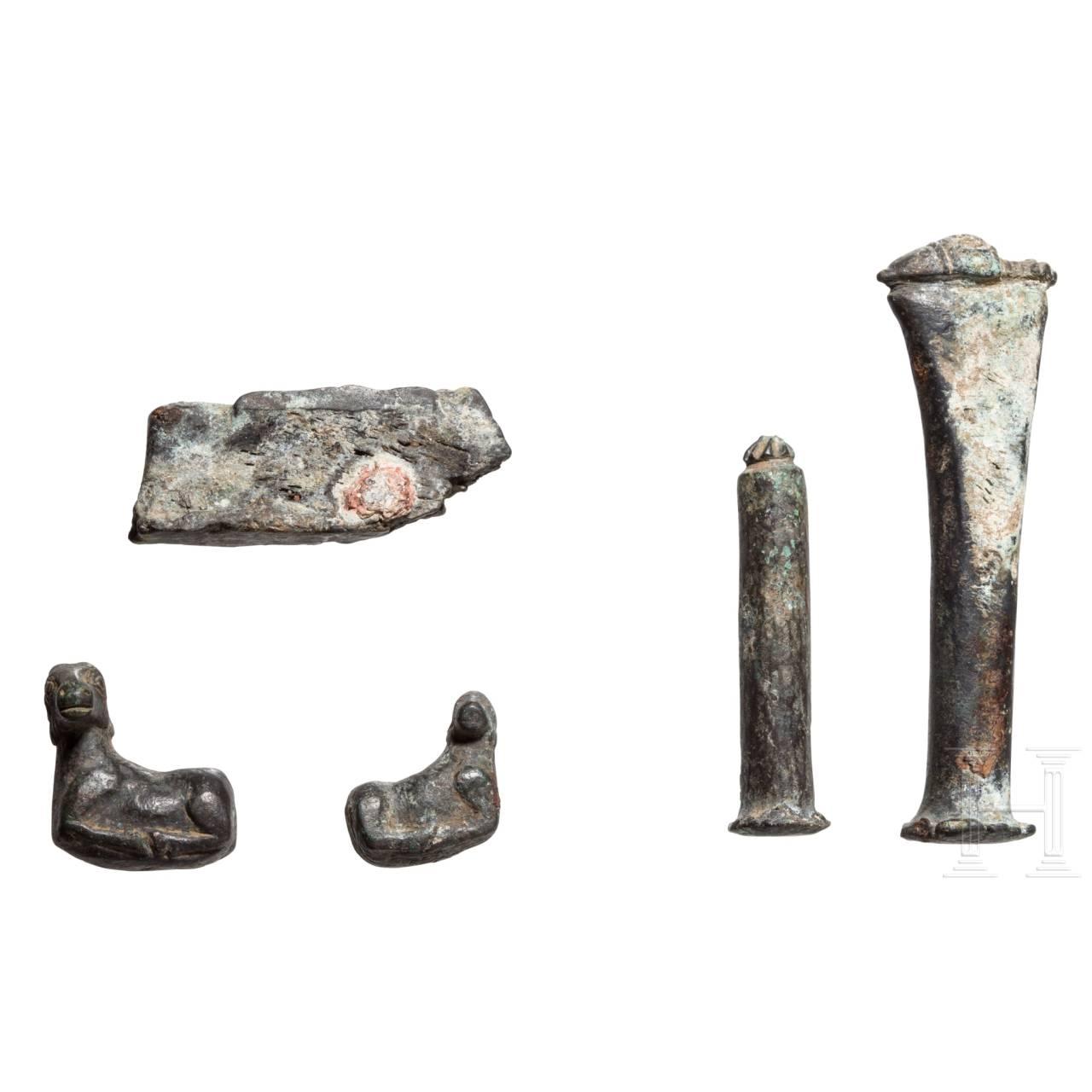 Fünf bronzene Punzen, Kleinasien, hellenistisch, 3. - 2. Jhdt. v. Chr.