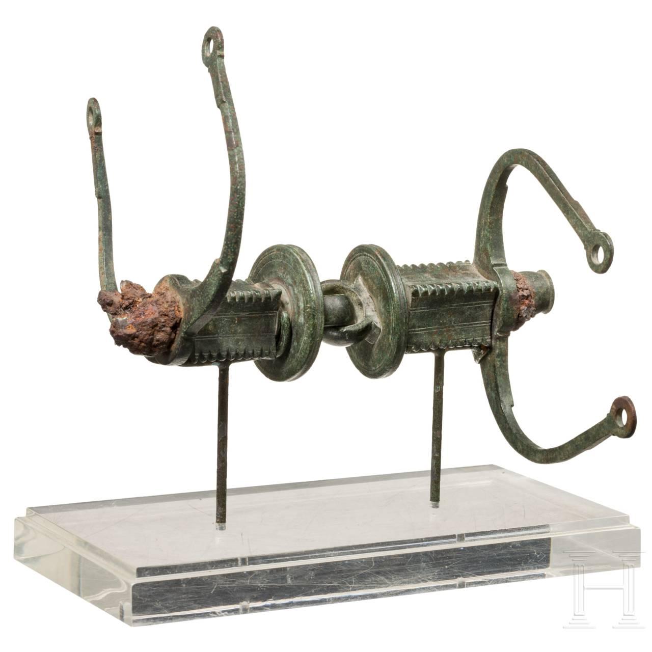 Exzeptionelle etruskische Pferdetrense, Mittelitalien, 5. Jh. v. Chr.