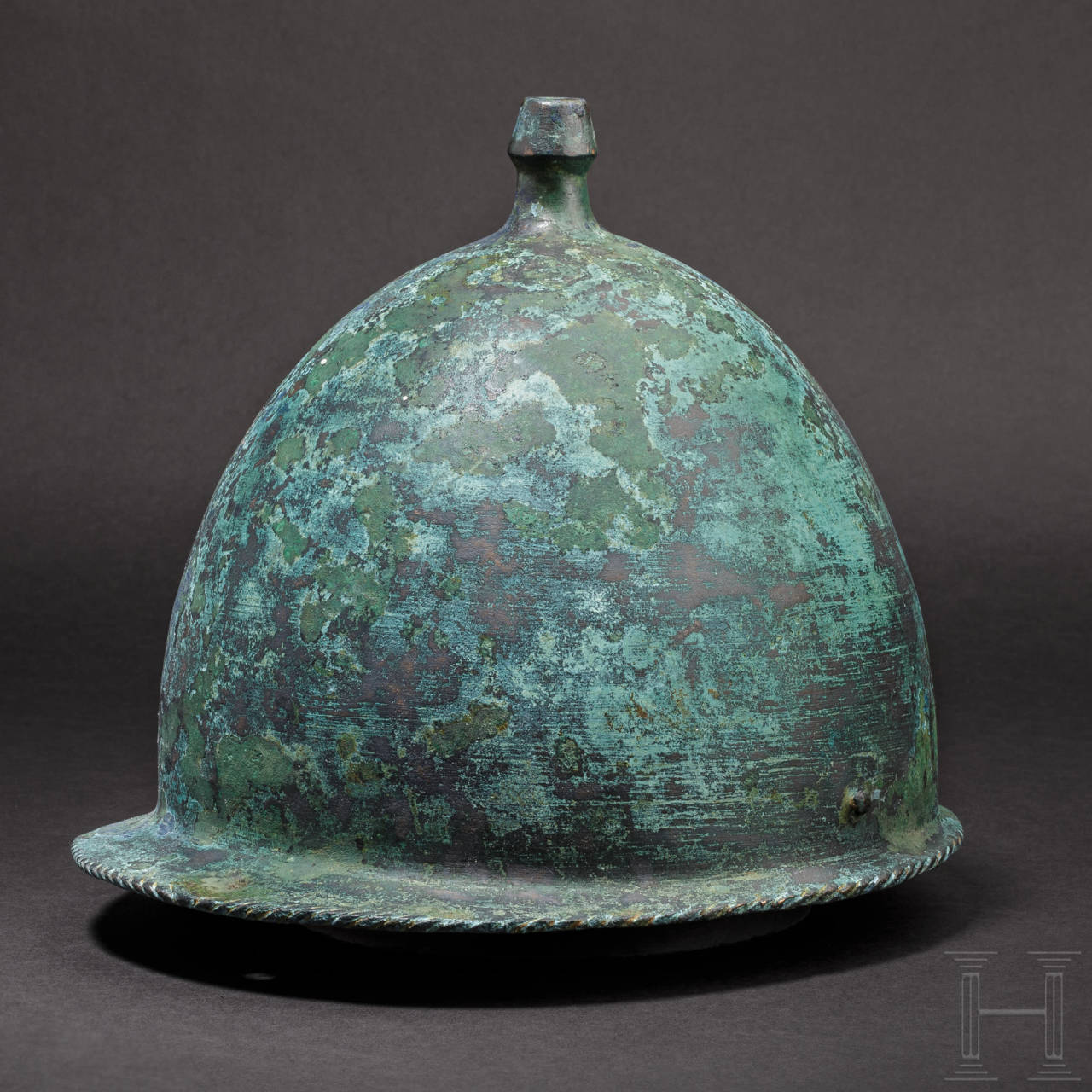 A Roman bronze helmet of the Buggenum type, 1st century B.C.