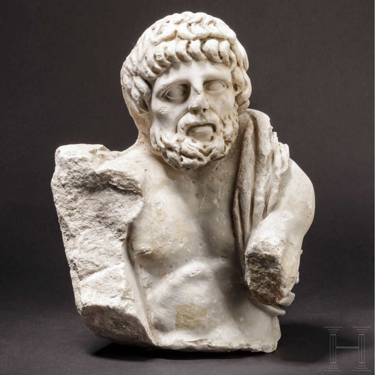 A fragment of a Roman marble figure, 2nd – 3rd century