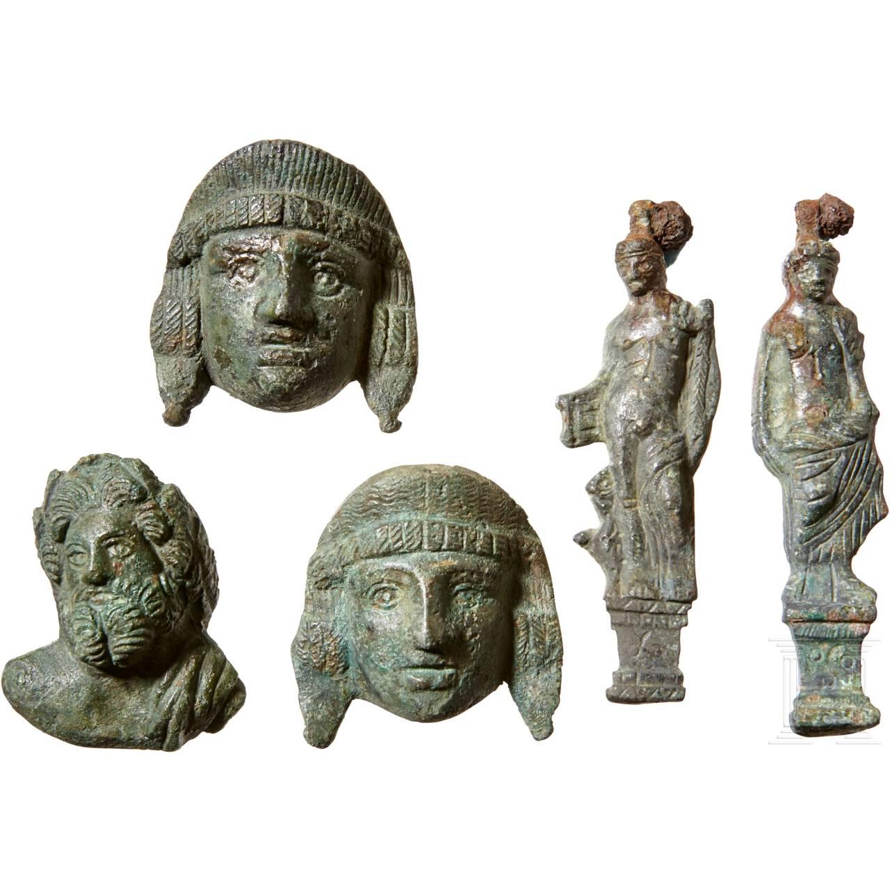 Five Roman figurative fittings, 2nd – 3rd century