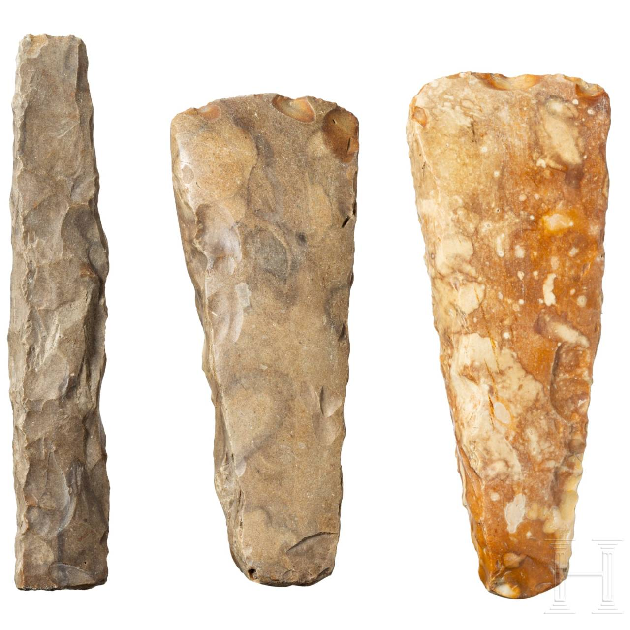 Two German Neolithic hatchets and a chisel, 3300 – 2200 B.C.