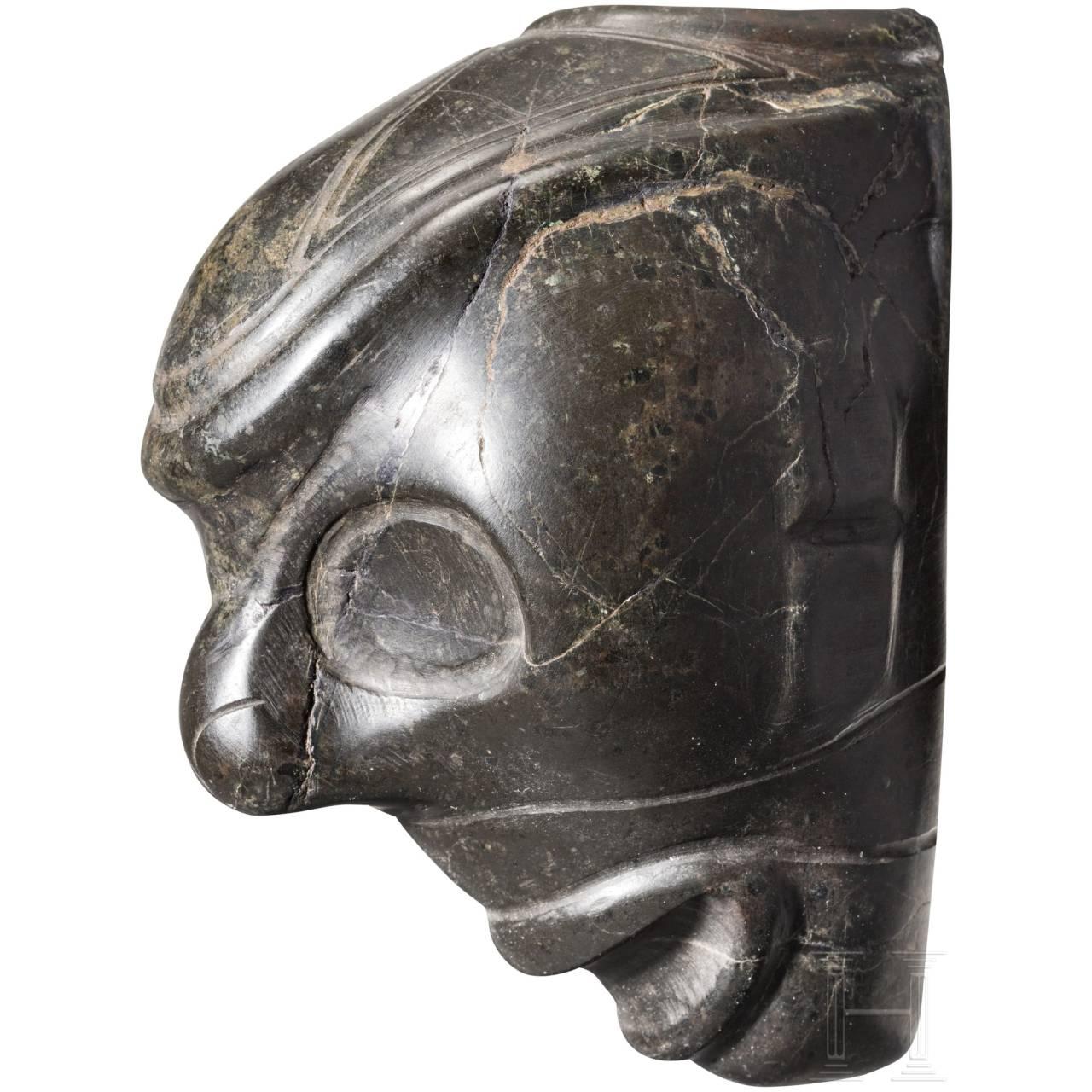 A Caribbean Taíno mask head, 11th-15th century