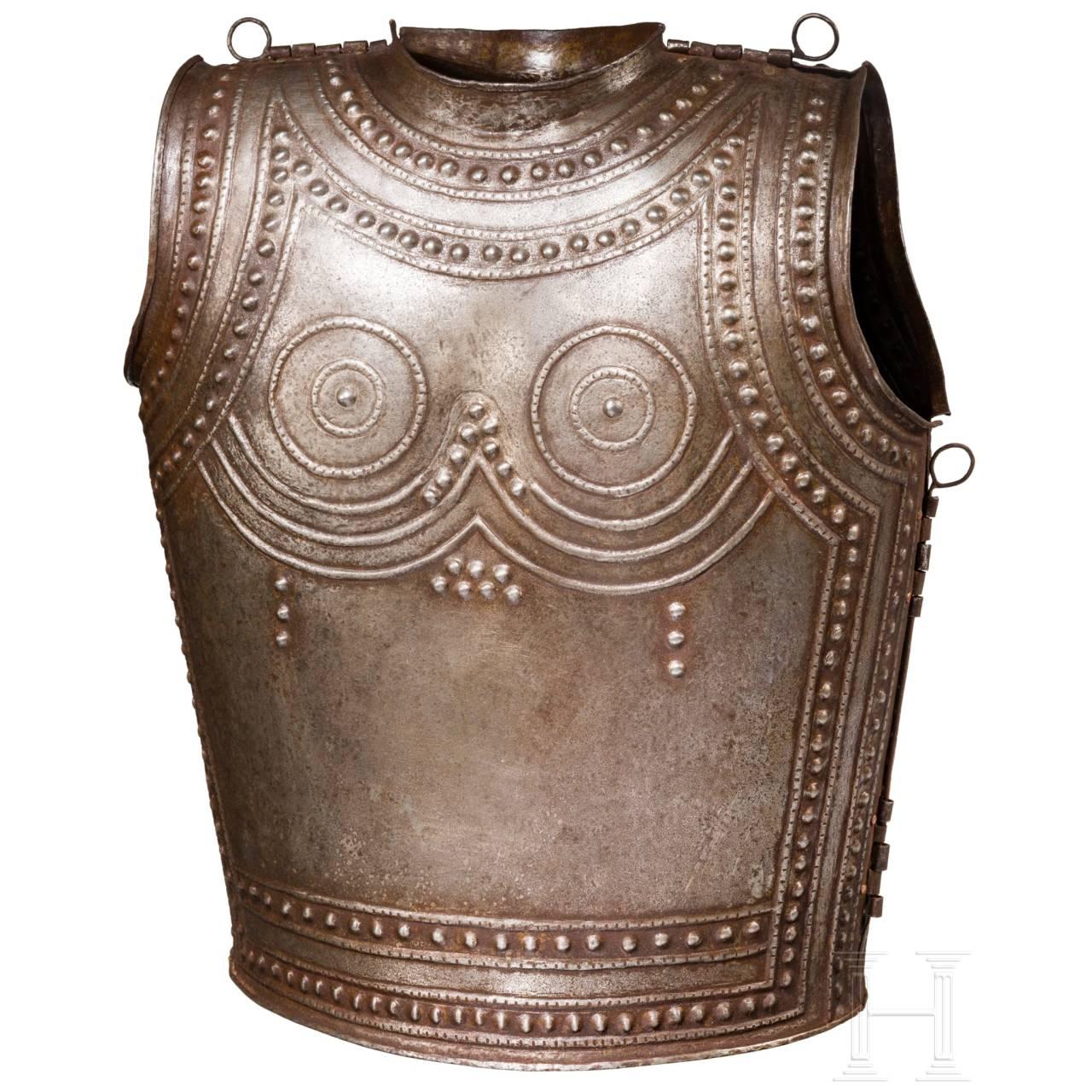 Eiserner Brustpanzer nach dem keltischen Vorbild aus Marmesse, Sammleranfertigung im Stil des 9./8. Jhdts. v. Chr