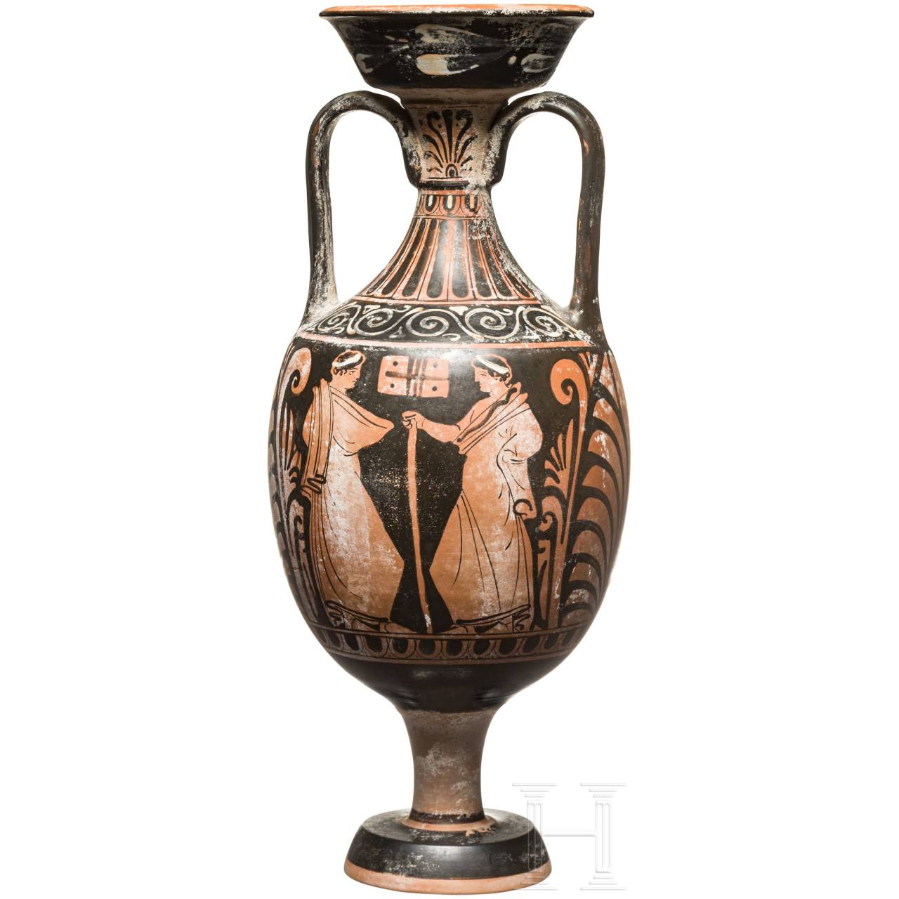 A red figure amphora