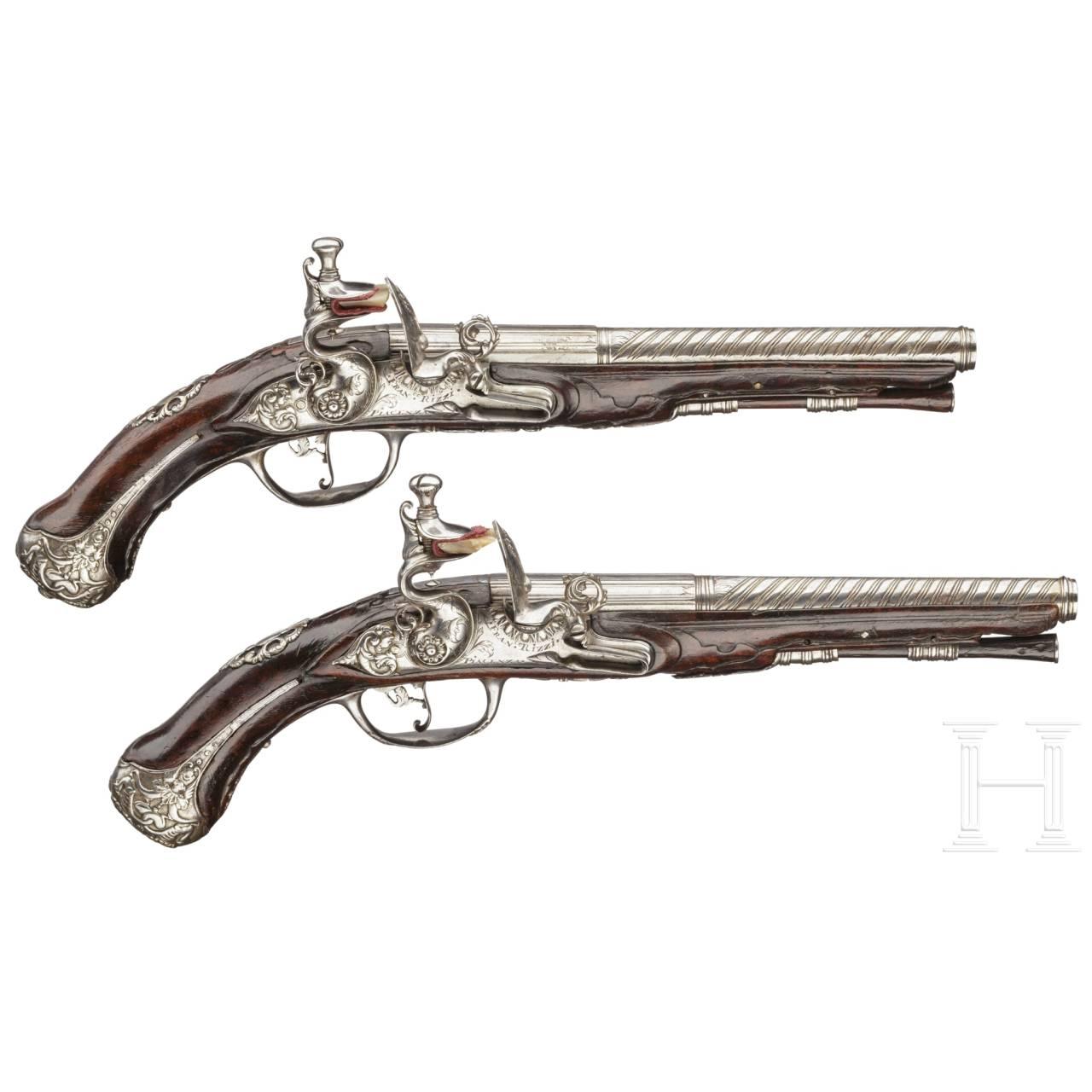 A pair of travelling pistols, Francesco Rizzi in Piacenza, circa 1700