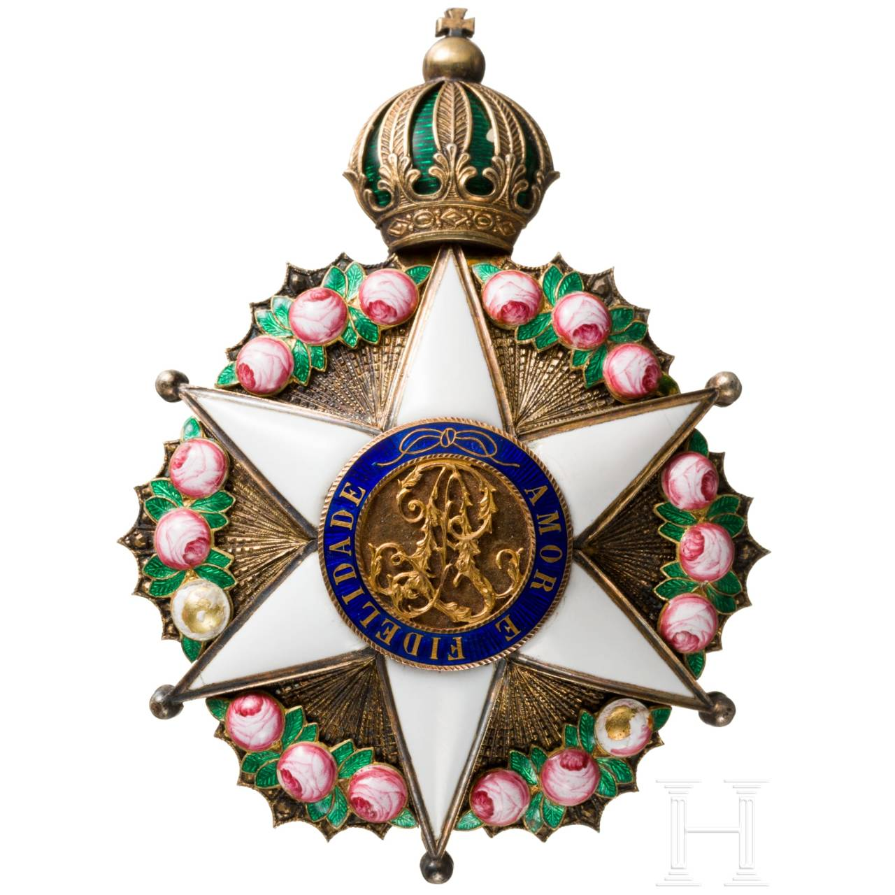 Imperial Order of the Rose a Commander's Breast Star (1822 - 1889)