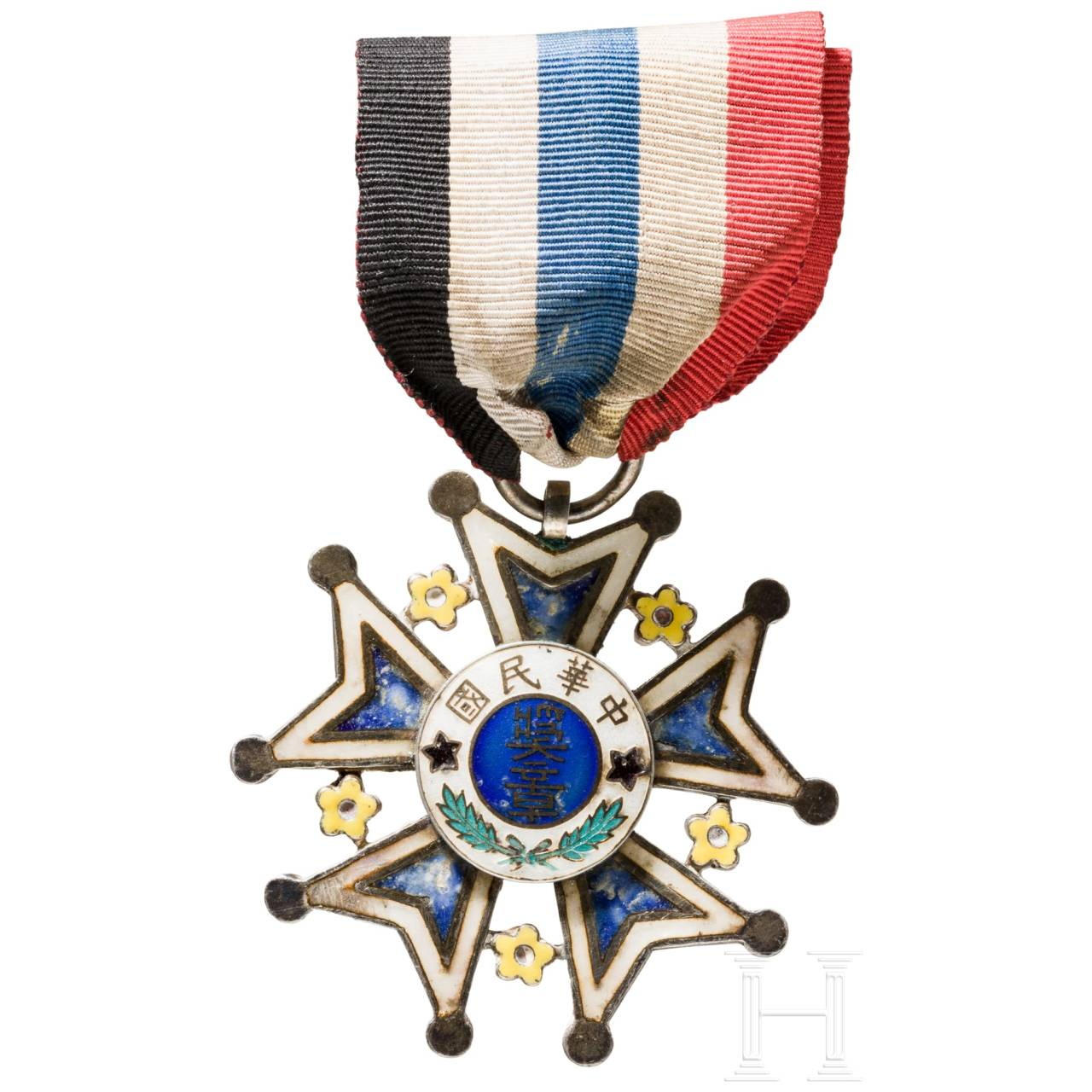 A Medal of Merit 2nd class of the Republic, Chinese province Hebei, from 1912 onwards