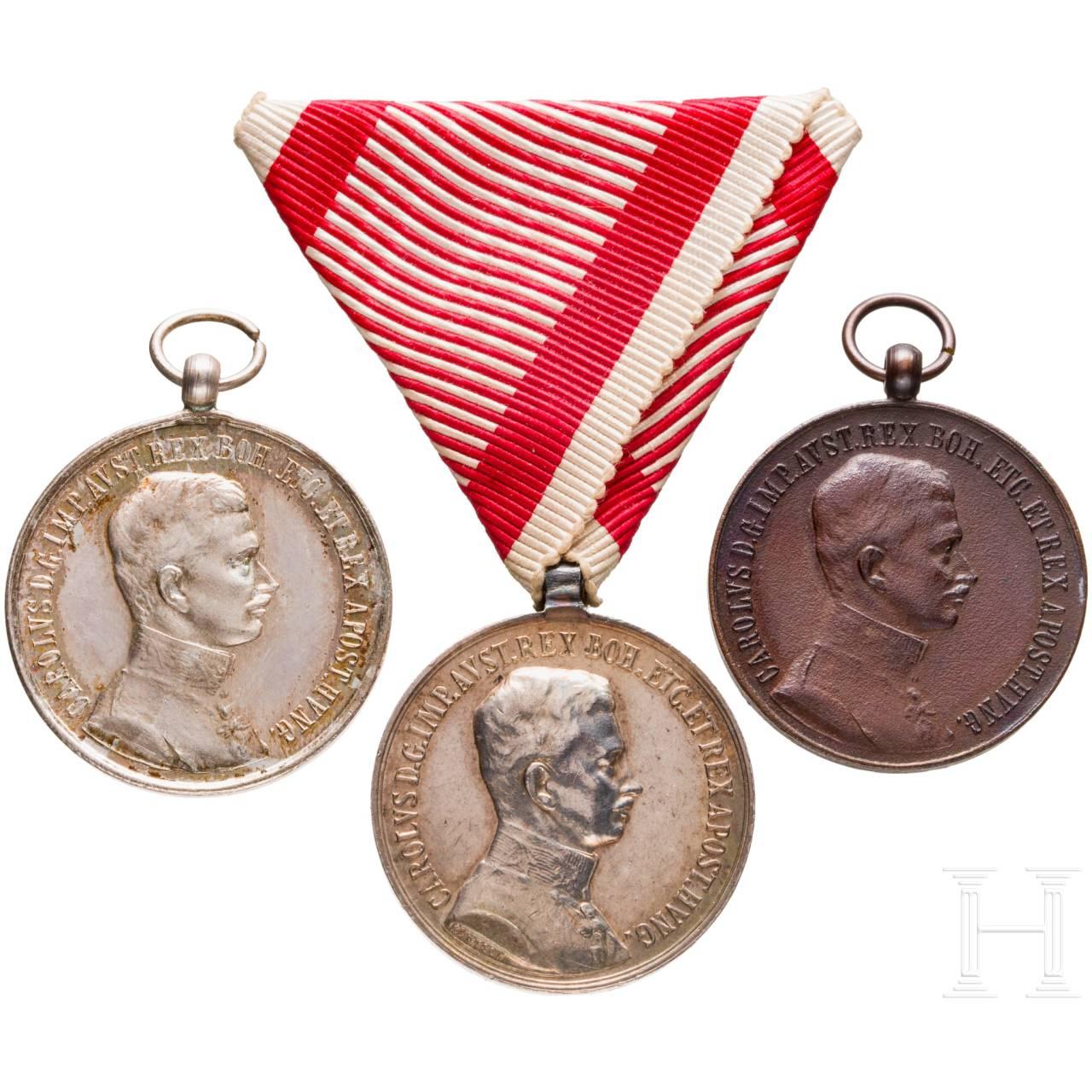 Tapferkeitsmedaille – drei Auszeichnungen