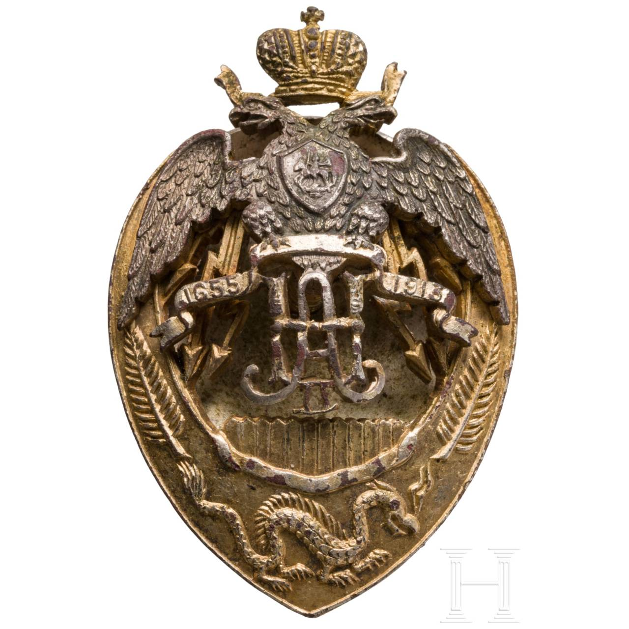 A Russian badge of the Zabaykalsky Cossack Regiment, circa 1915