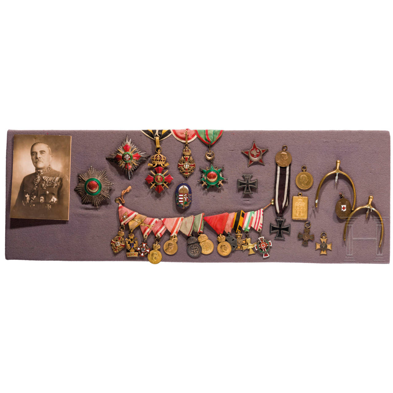 Awards and paintings belonging to Lieutenant Field Marshal Sándor Kontz