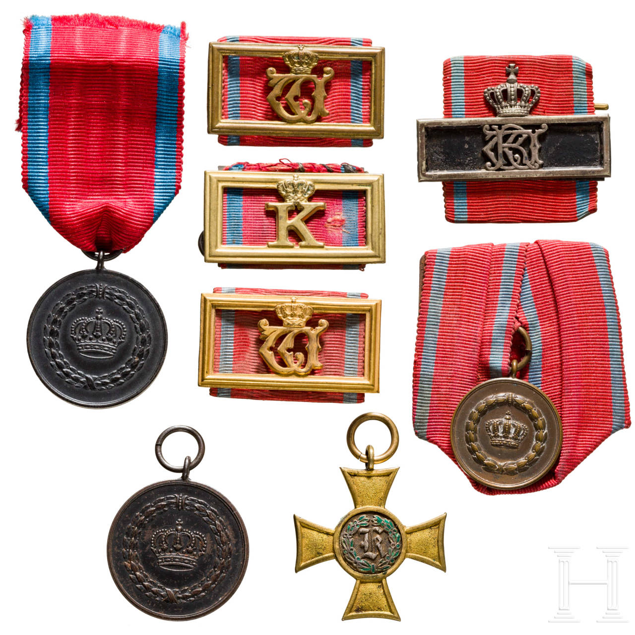 A group of service awards