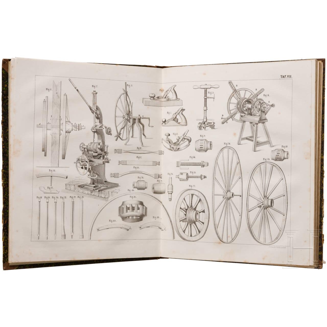 """""""Stellmacher und Wagenbau"""", panel work by Wilhelm Rausch"""