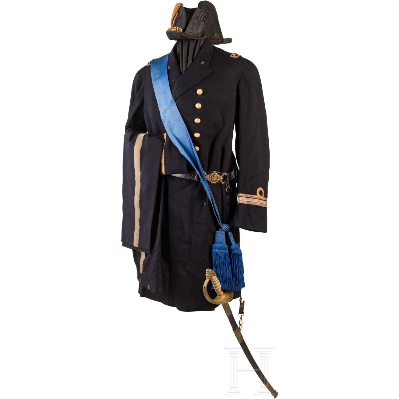 A uniform ensemble of a naval officer, 1st half of the 20th century