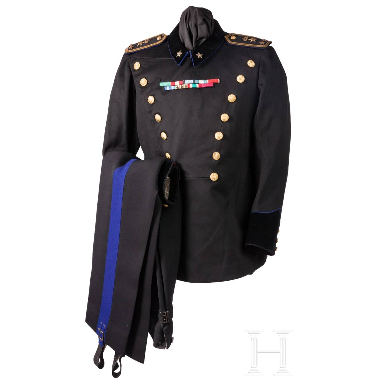 A black uniform for officers of the supply troops, before 1945