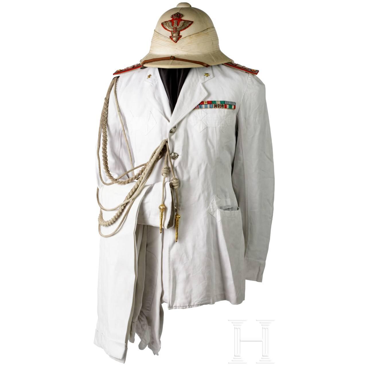 """A summer uniform for a """"Generale di Brigata"""" in the colonial territories"""