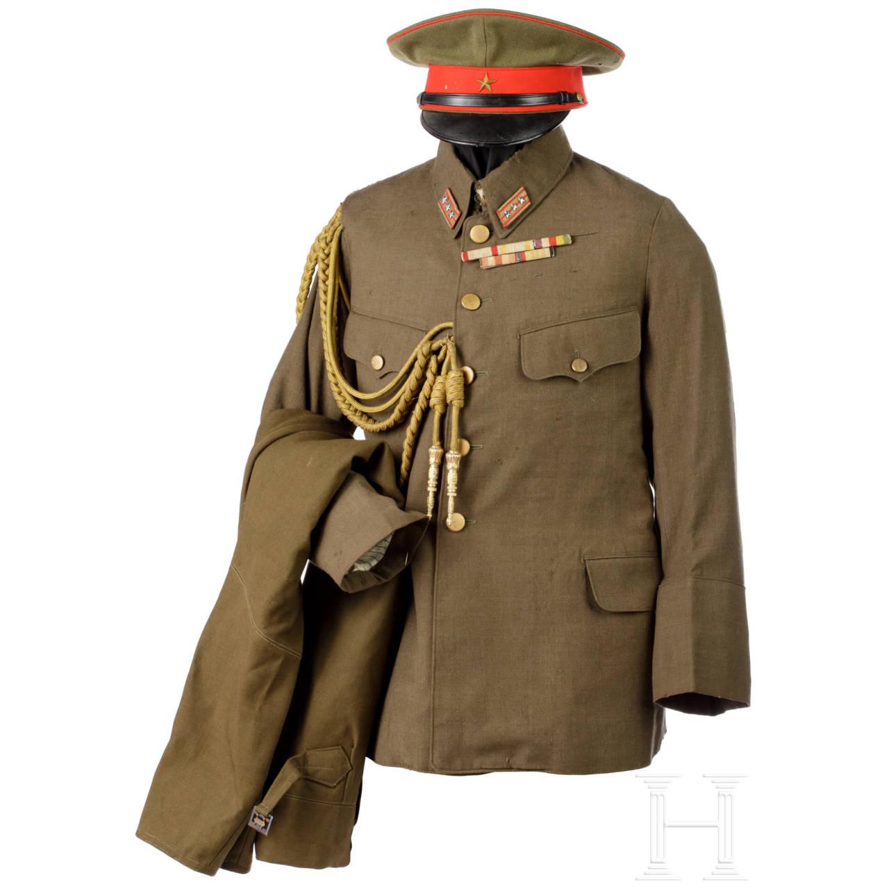 Uniform eines Armee-Offiziers im 2. Weltkrieg