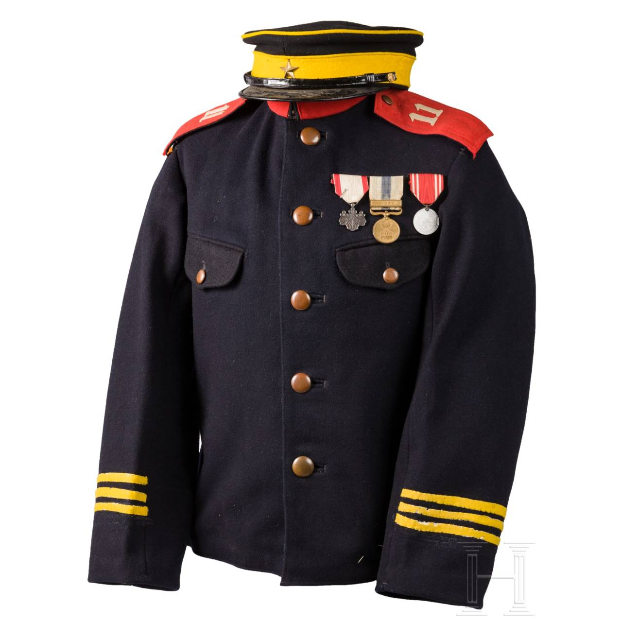 Uniform eines Armee-Unteroffiziers aus dem Russisch-Japanischen Krieg 1904 – 1905
