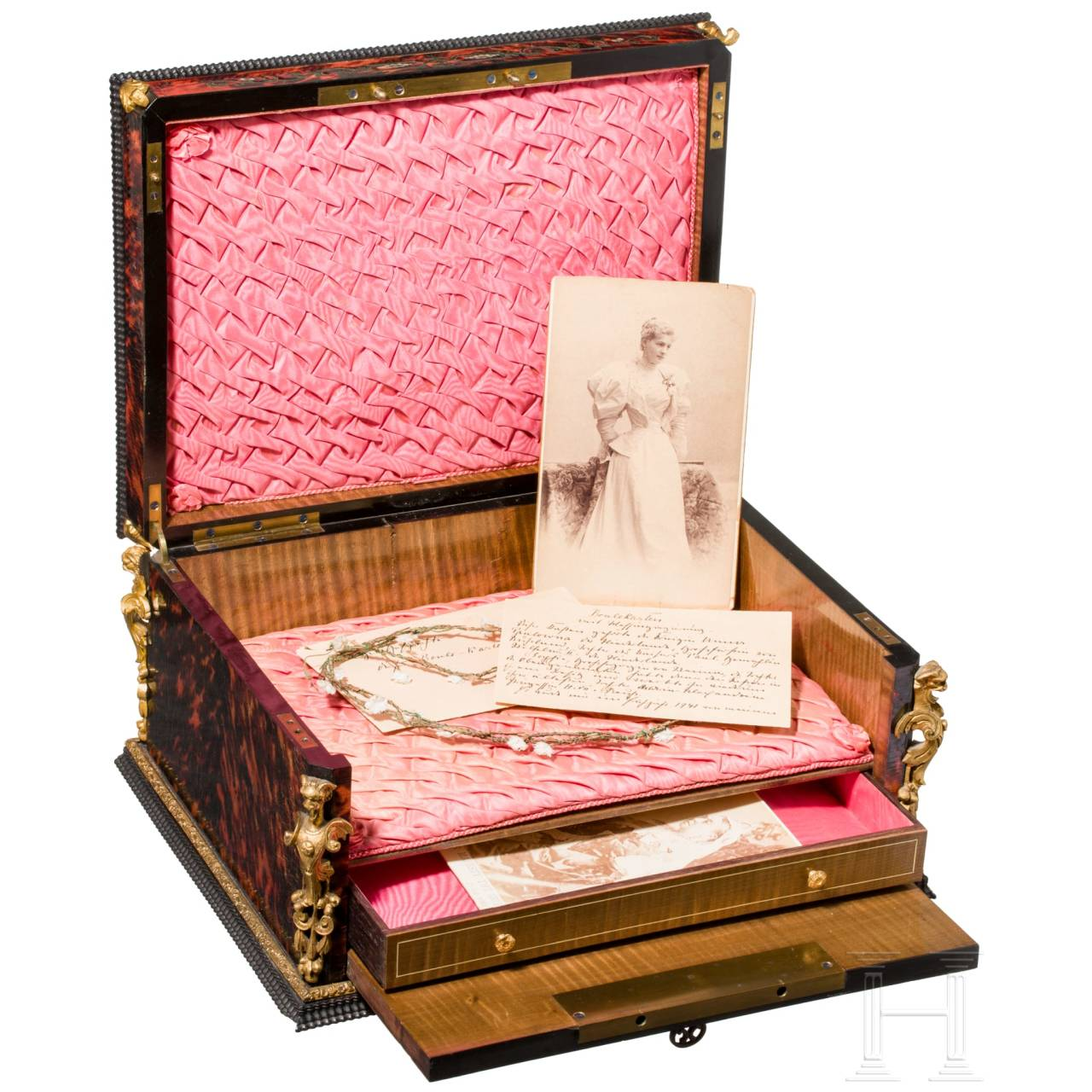 A French courtly stationery box from the possession of a Russian princely family, mid-19th century