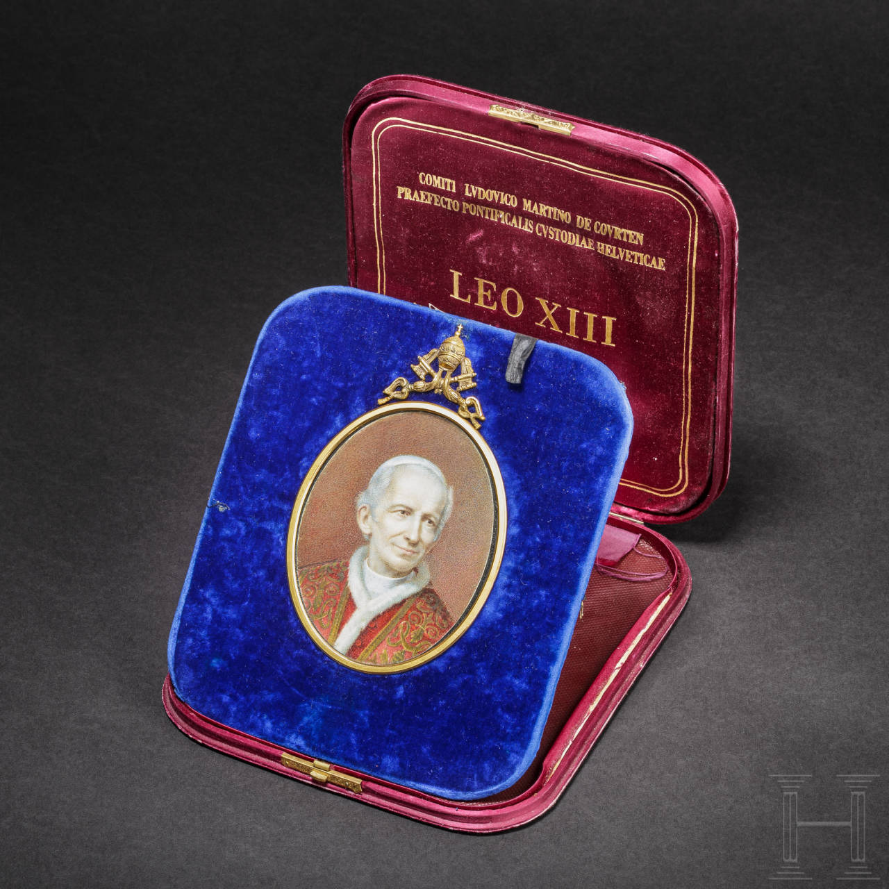 Pope Leo XIII (1810 – 1903) – a gift to the commander of the Swiss Guard
