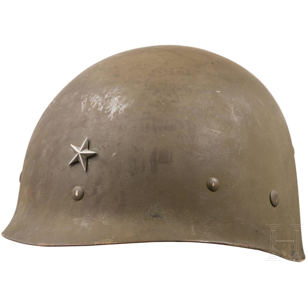 A USM 1 helmet liner for a brigadier, 1940s