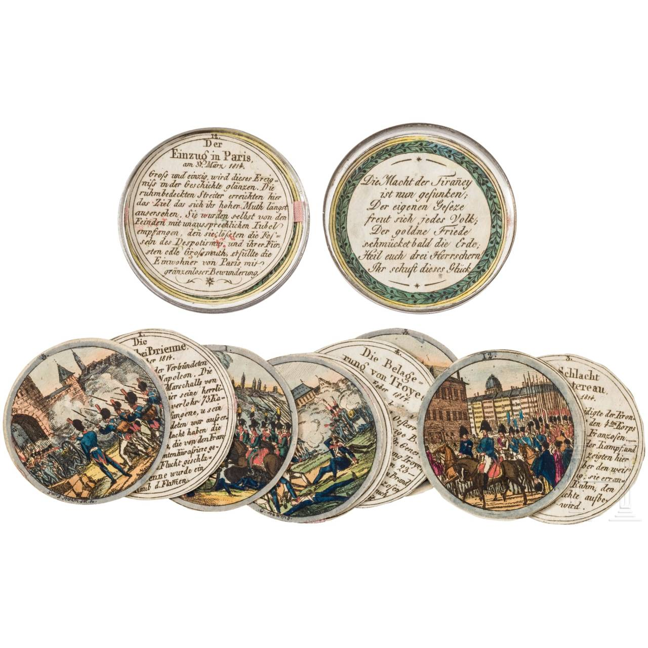 Steckmedaille auf die Befreiungskriege, Nürnberg, 1814