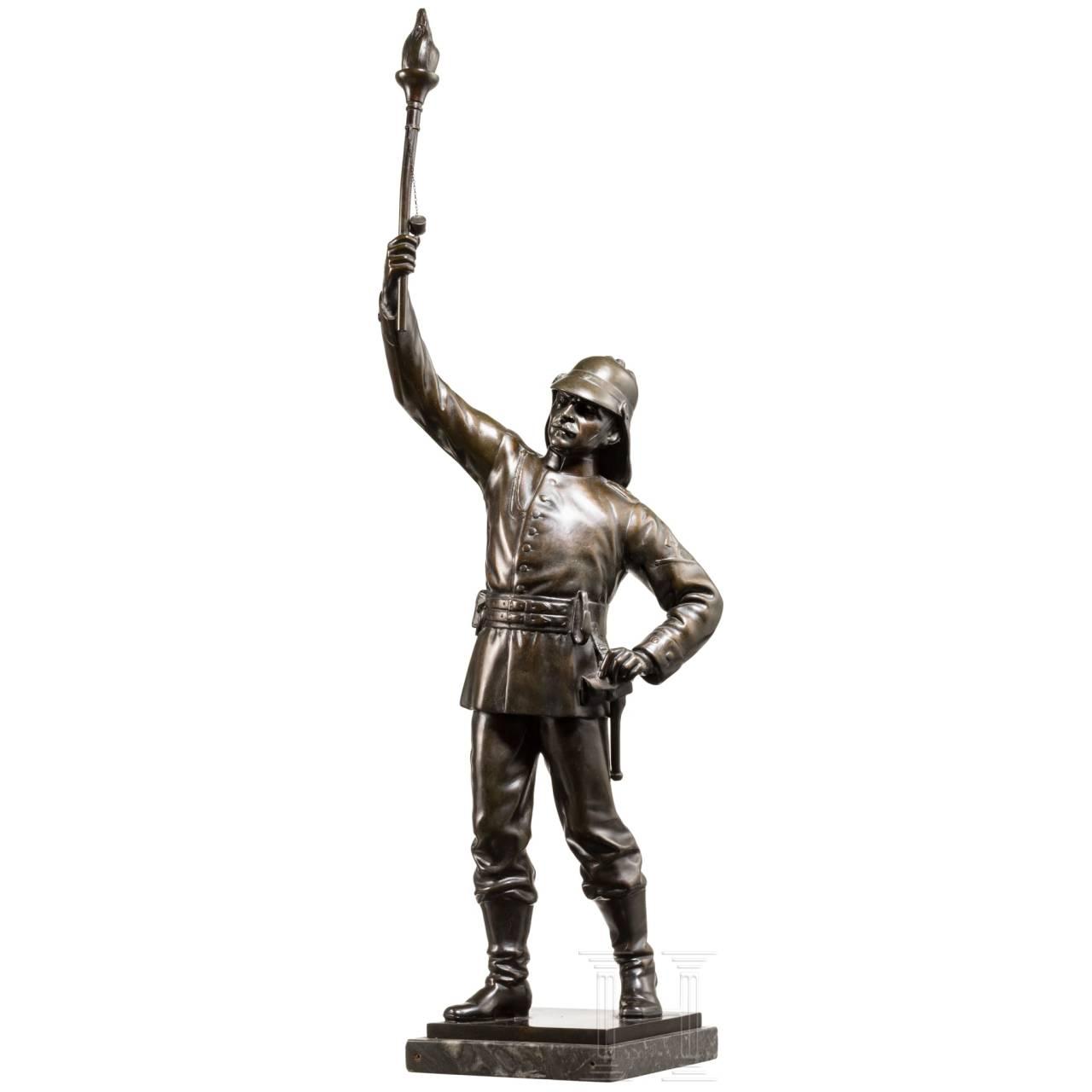 Fackelträger, Bronze
