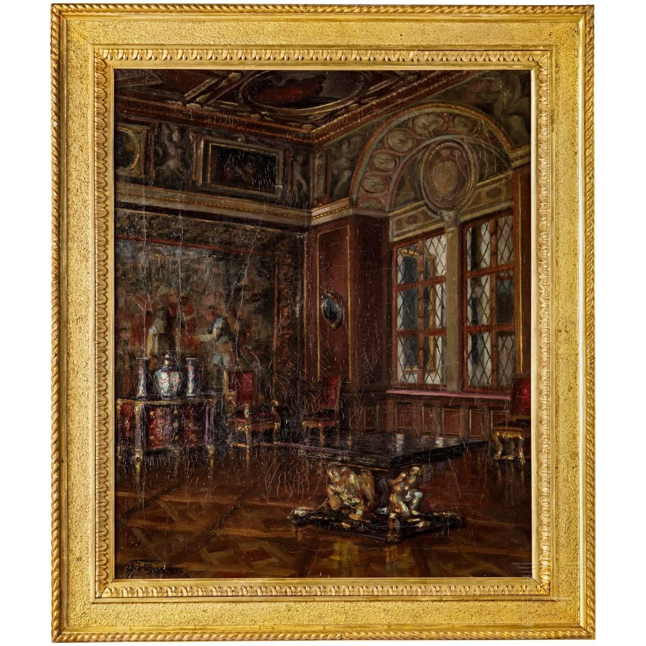"""Friedrich Gurlitt - """"Trierzimmer in der Münchner Residenz"""""""