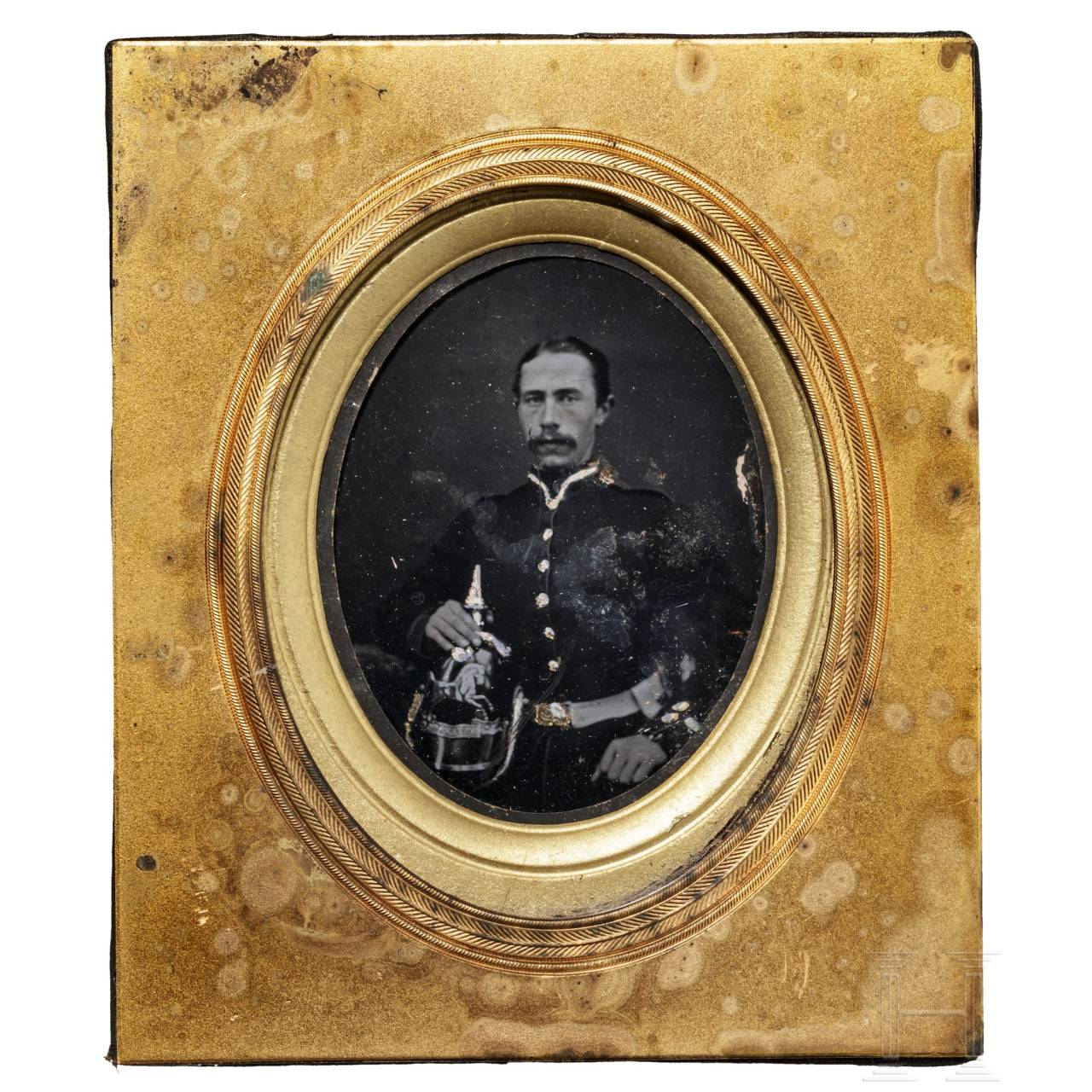 An ambrotype of a Hanoverian soldier, mid 19th century