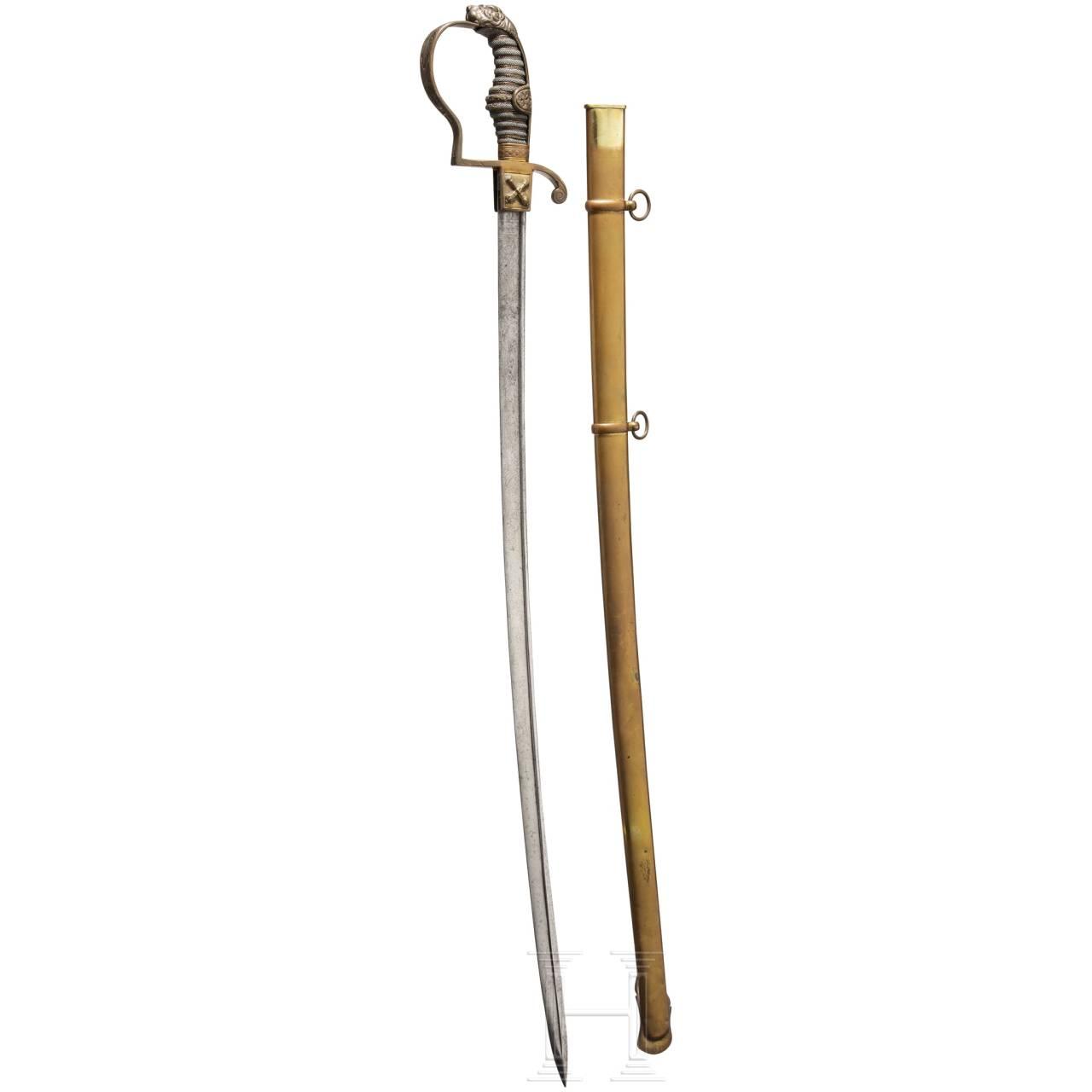 A sabre for officers of the Hamburg militia, ca. 1840